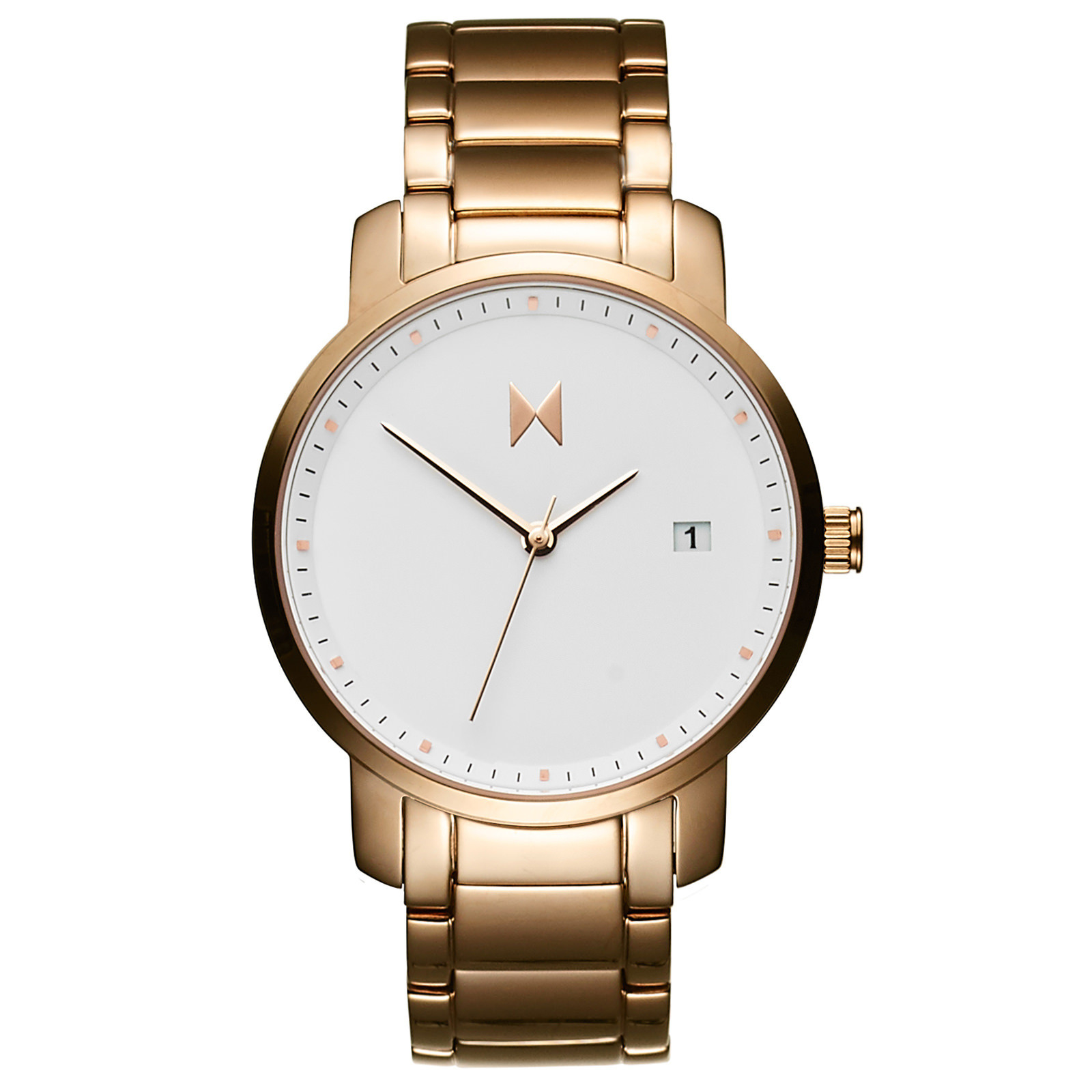 Mvmt white rose gold lyst for Mvmt watches