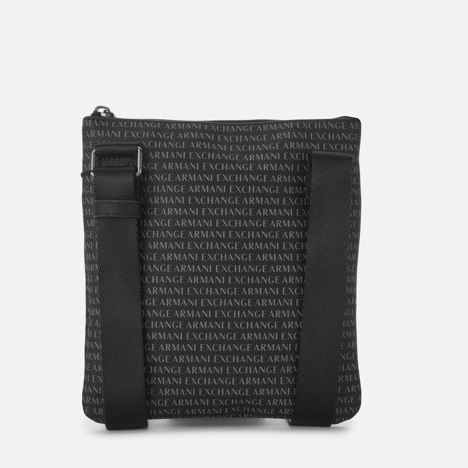 3272c924d22b Armani Exchange - Black All Over Print Cross Body Bag for Men - Lyst. View  fullscreen