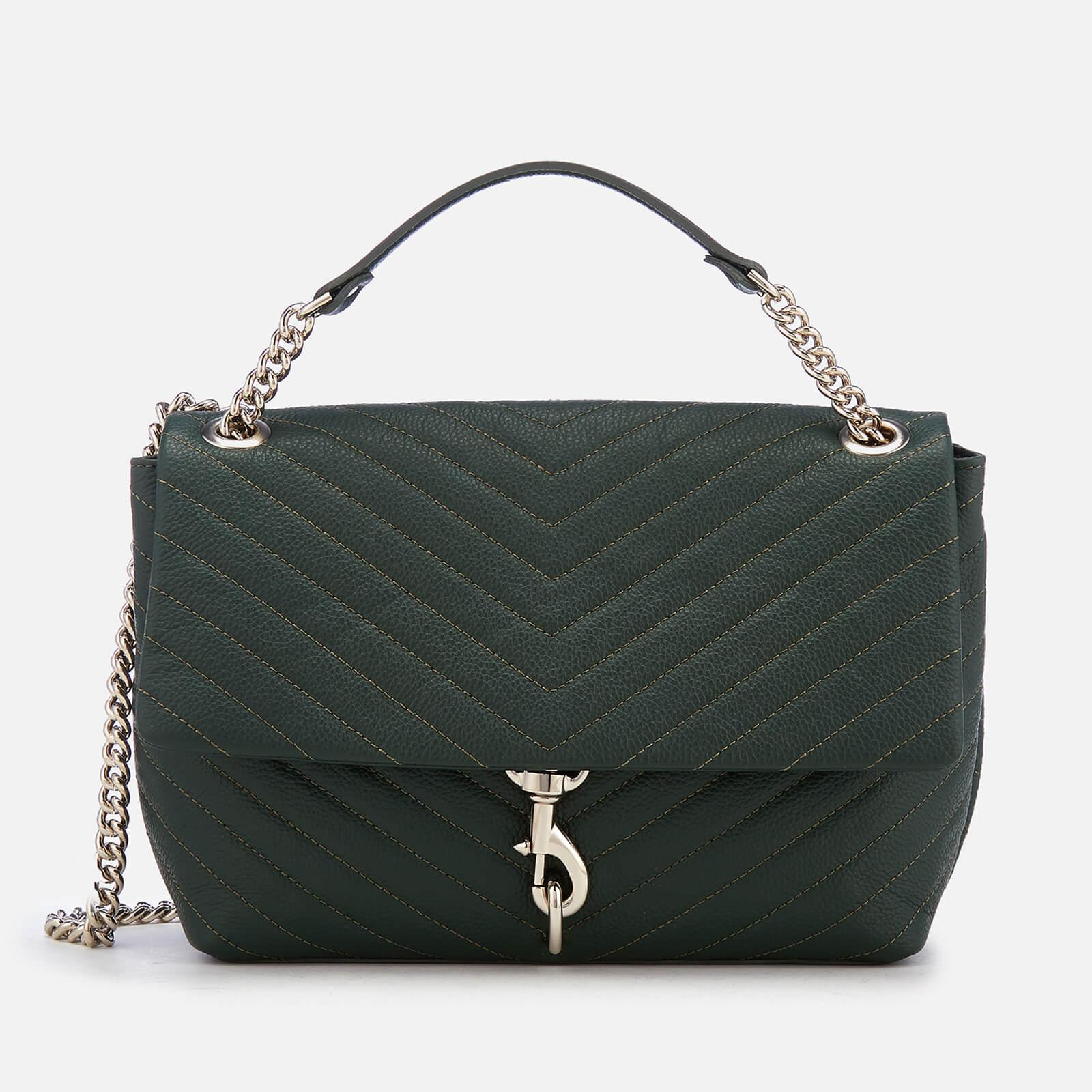 016258e046dbe Rebecca Minkoff Edie Flap Shoulder Bag in Green - Lyst