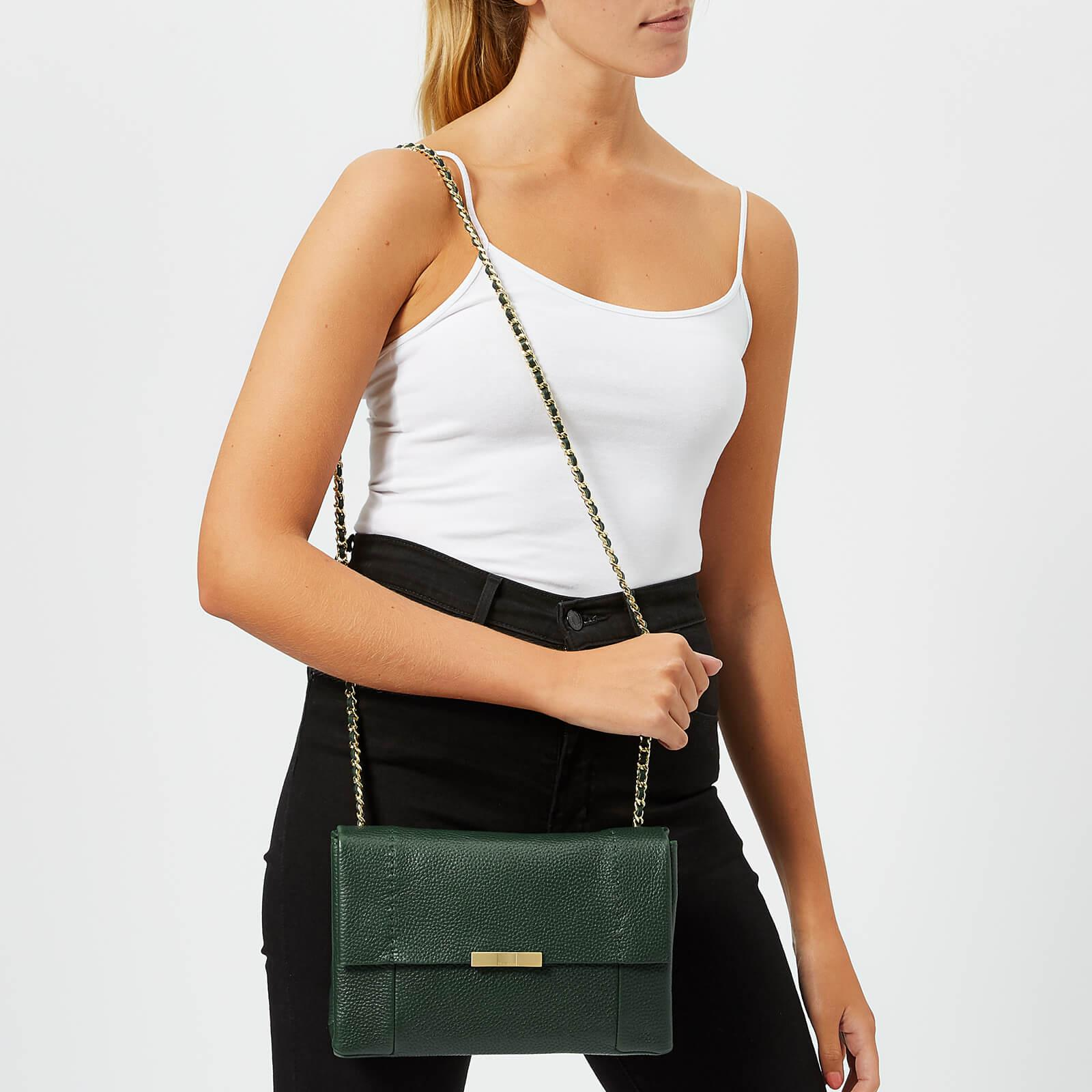 fc5459472818 Ted Baker Clarria Bow Detail Soft Cross Body Bag in Green - Lyst