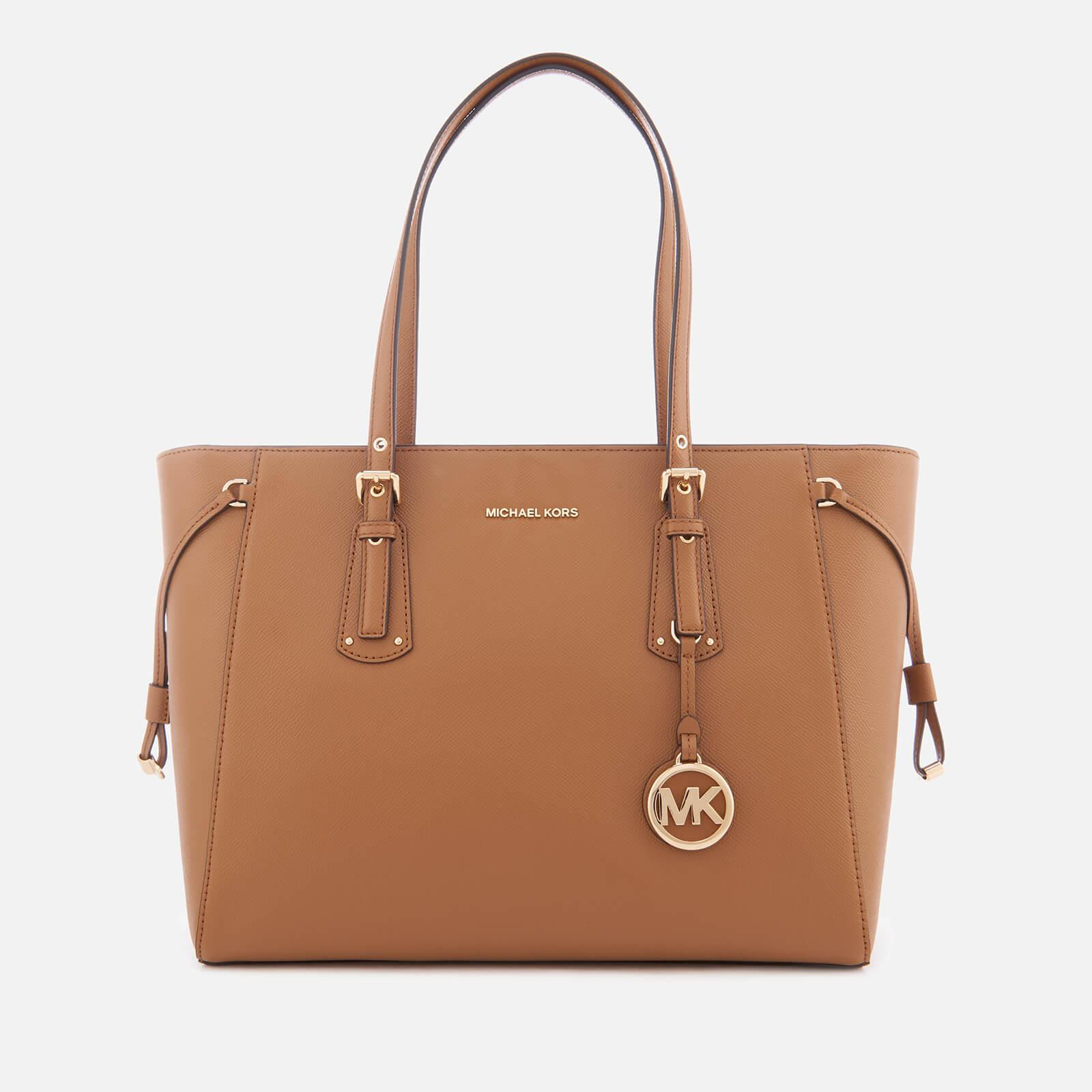 cefea3727e3e8 Lyst - MICHAEL Michael Kors Voyager Medium Tote Bag in Brown - Save 59%