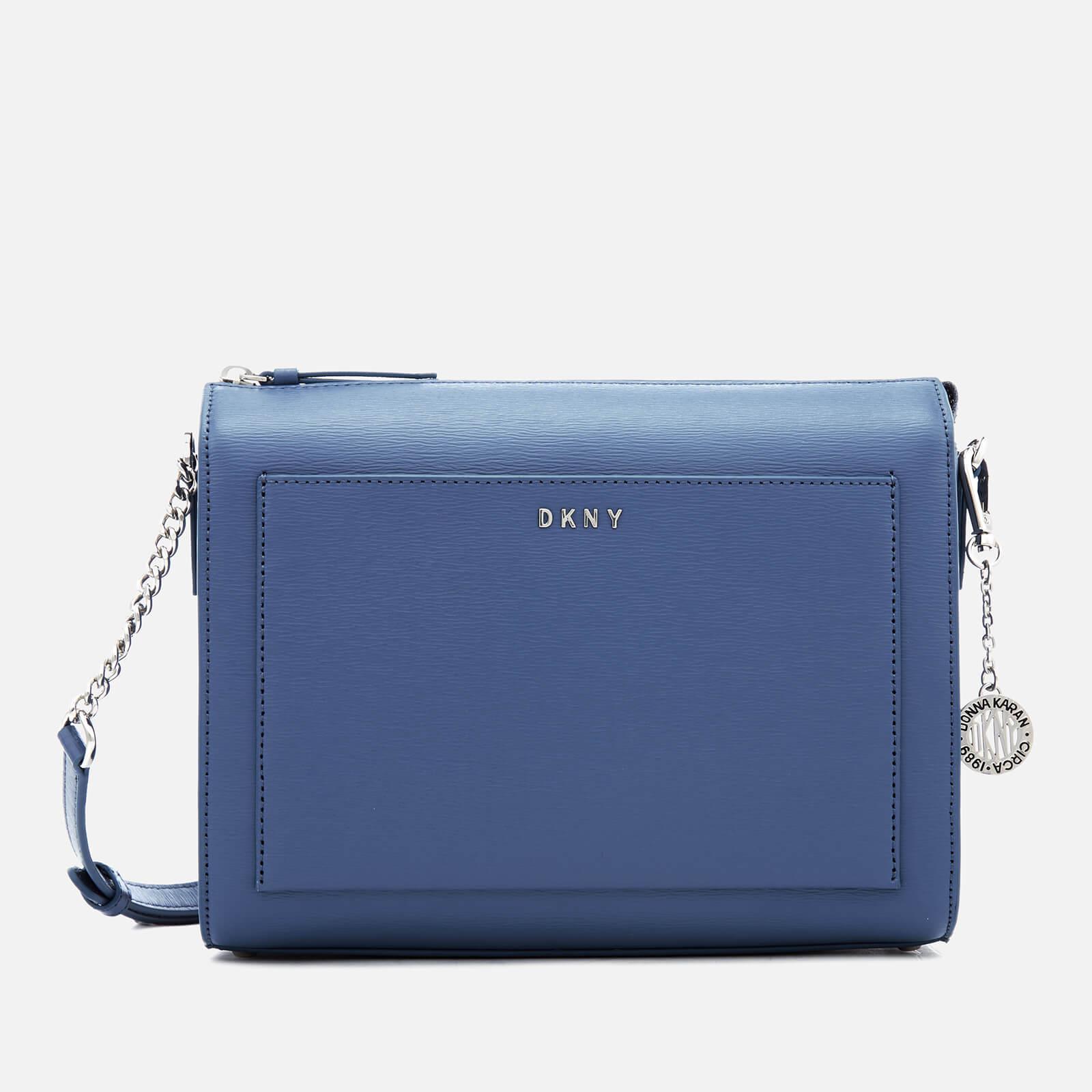 DKNY Bryant Medium Leather Box Cross Body Bag, Safari