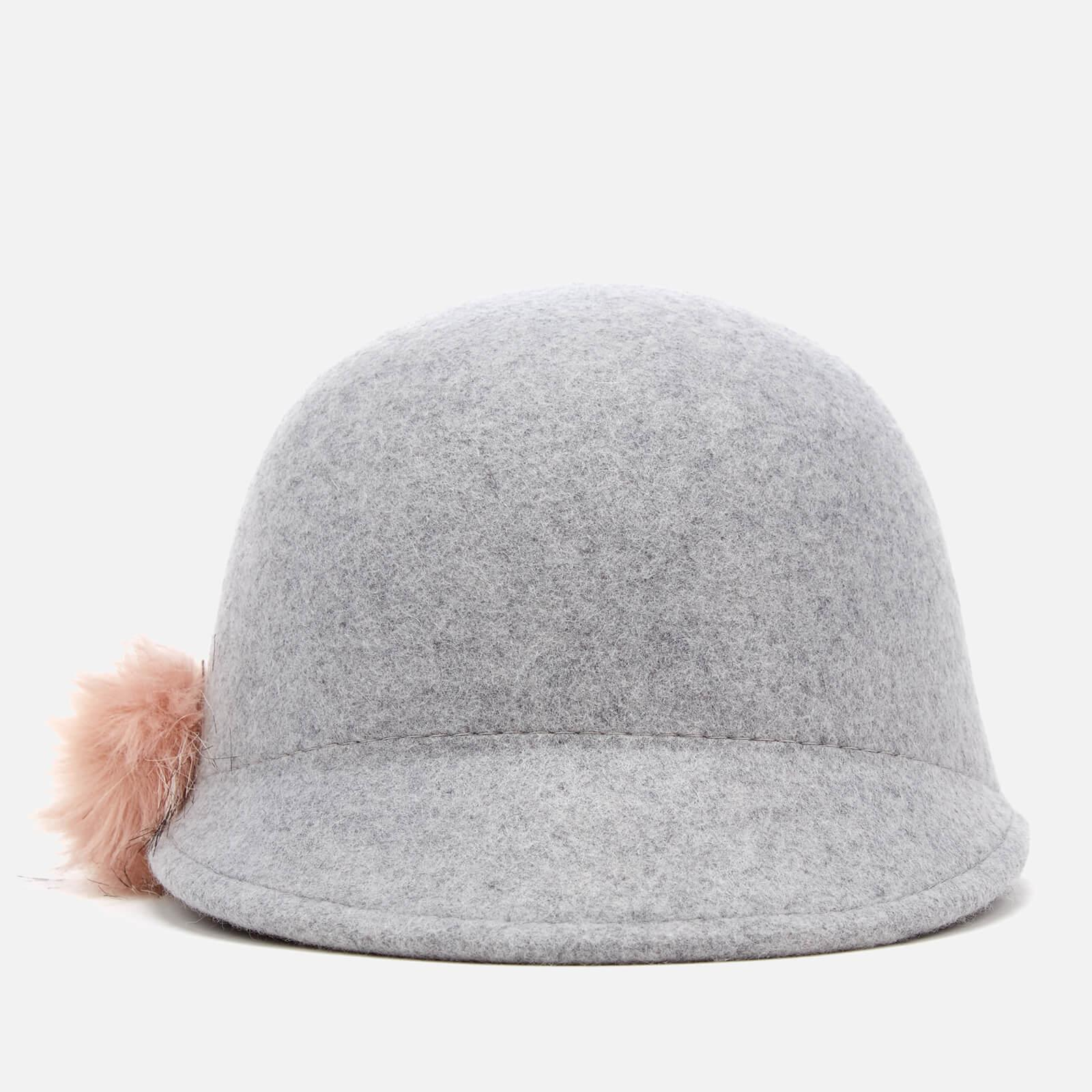 5ad2f82d6ef Ted Baker Adabel Faux Fur Pom Pom Felt Hat in Gray - Lyst