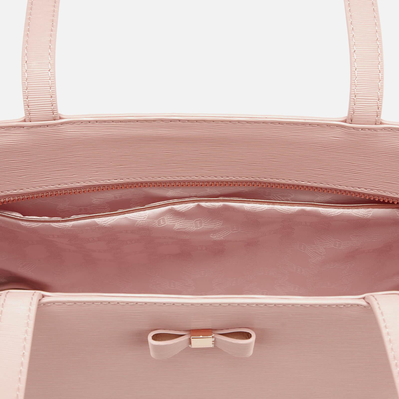 75c45d24314412 Lyst - Ted Baker Deanie Bow Detail Small Shopper Bag in Pink