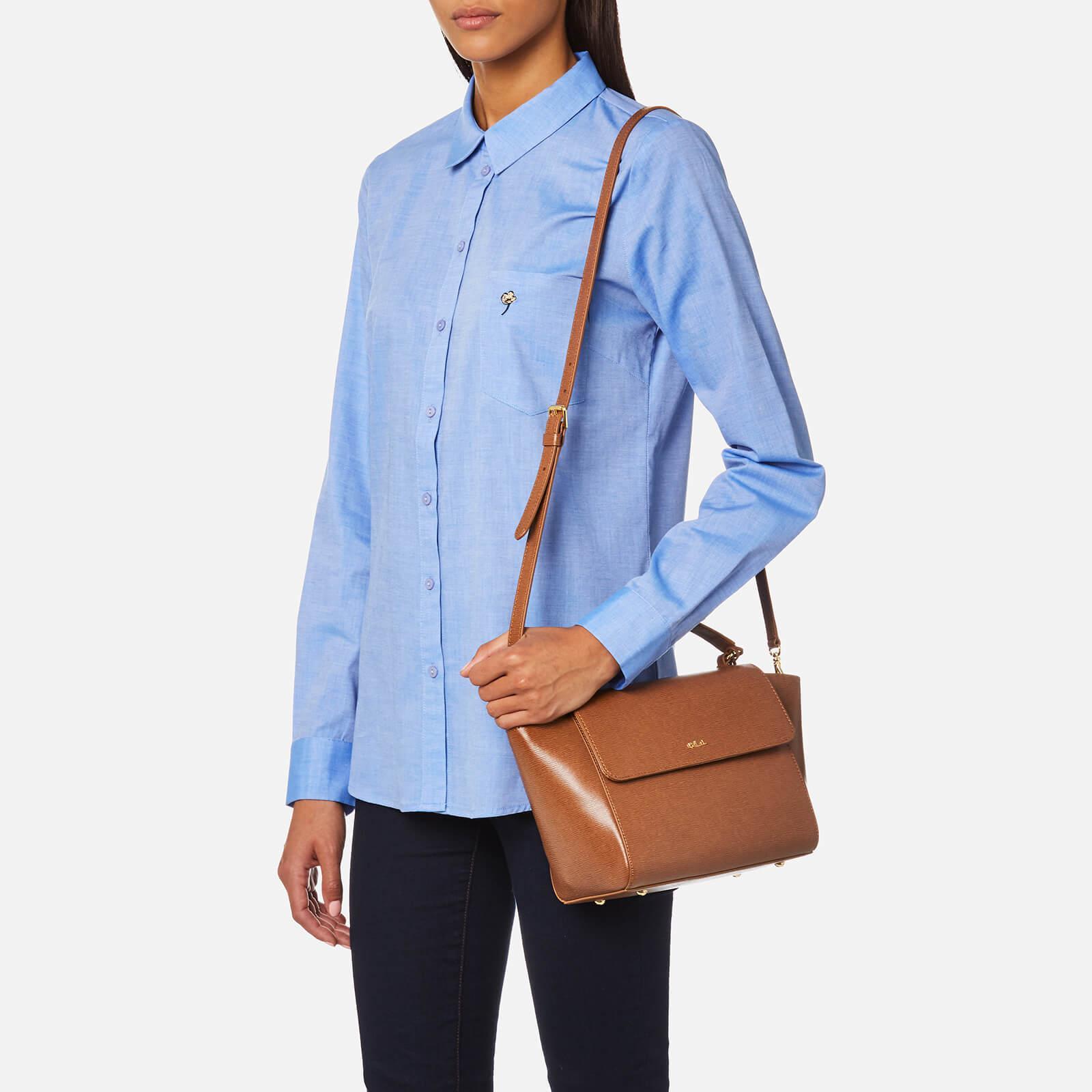 51512ade2 Lauren by Ralph Lauren Newbury Barclay Cross Body Bag in Brown - Lyst