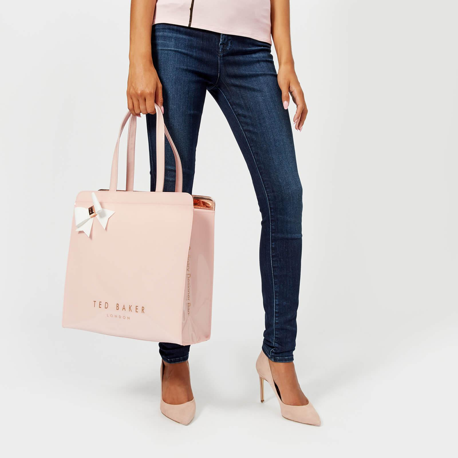lyst ted baker auracon large bow icon bag in pink