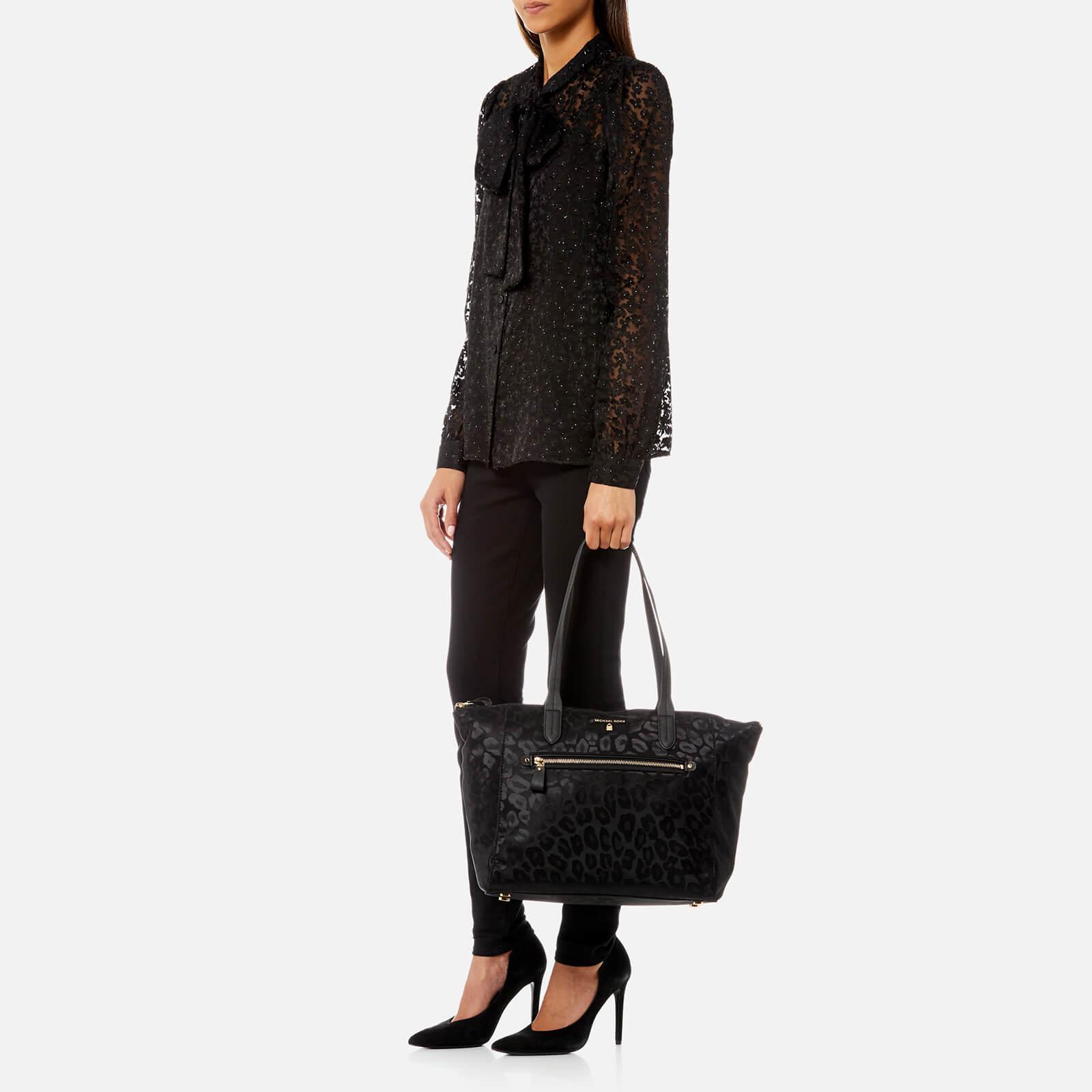 2bde5722985e Lyst - MICHAEL Michael Kors Kelsey Large Top Zip Tote Bag in Black