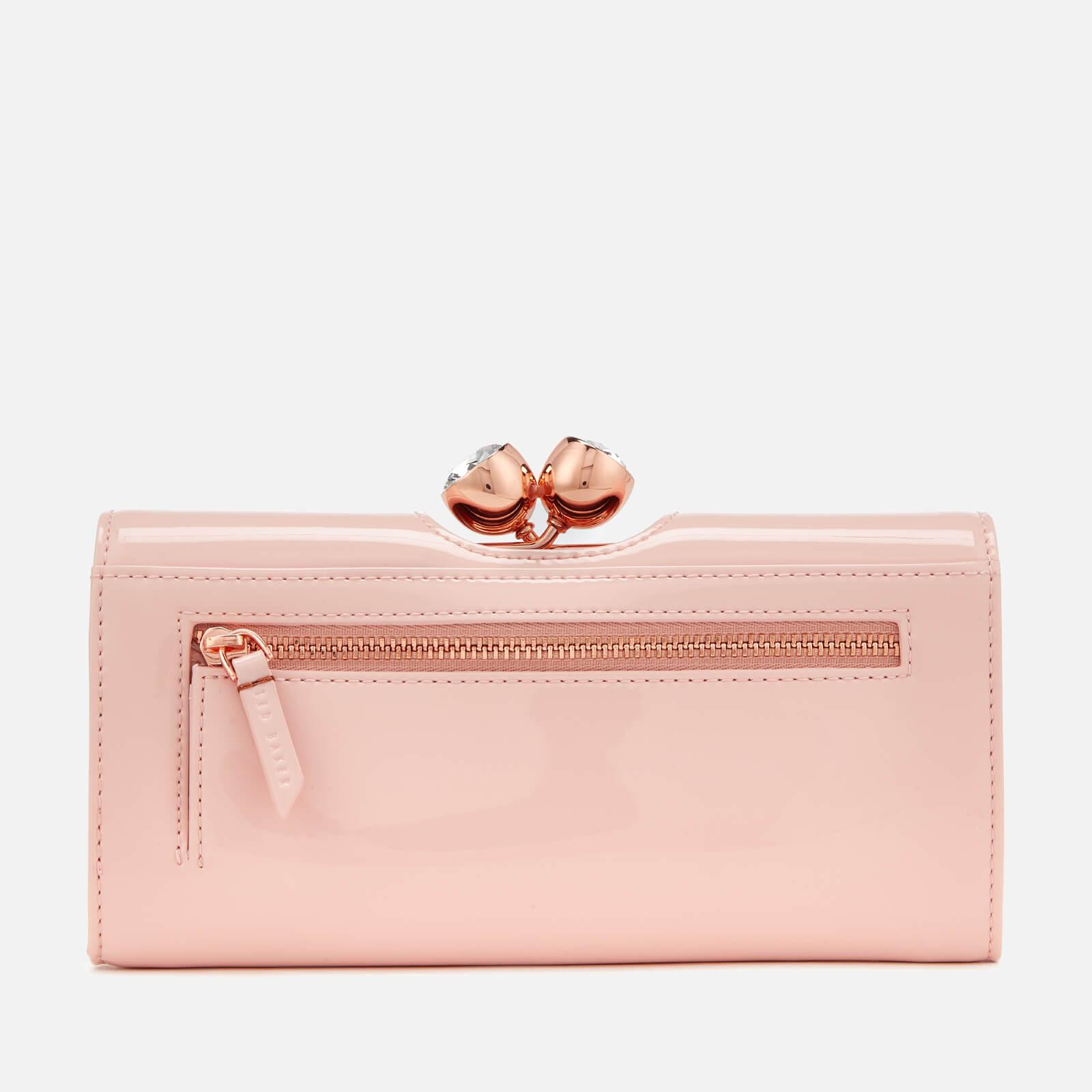 08508f984d3f76 Ted Baker Honeyy Twisted Bobble Patent Matinee Purse in Pink - Lyst