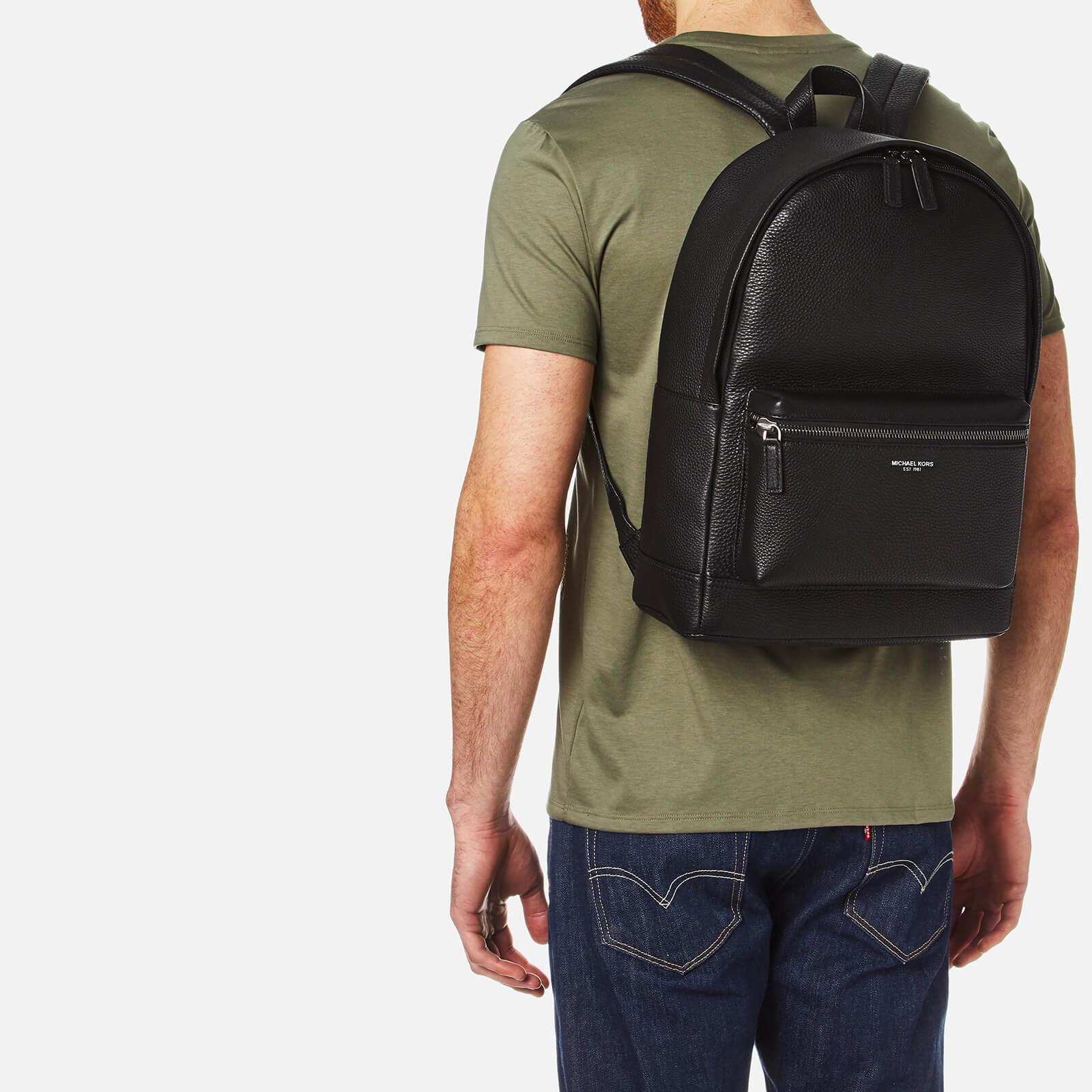 f55d89a69845 Michael Kors Men s Bryant Leather Backpack in Black for Men - Lyst