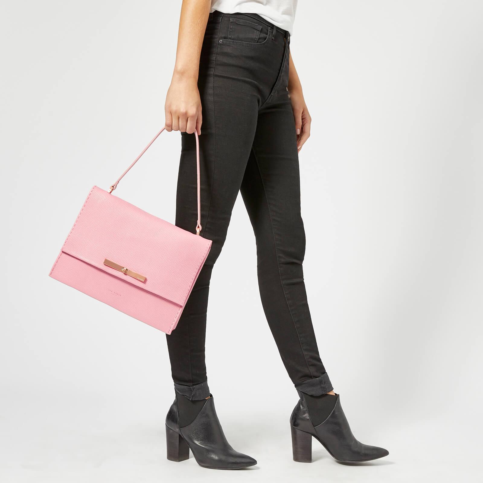 0ca9f2ed4a3c Ted Baker - Pink Jessi Concertina Leather Shoulder Bag - Lyst. View  fullscreen