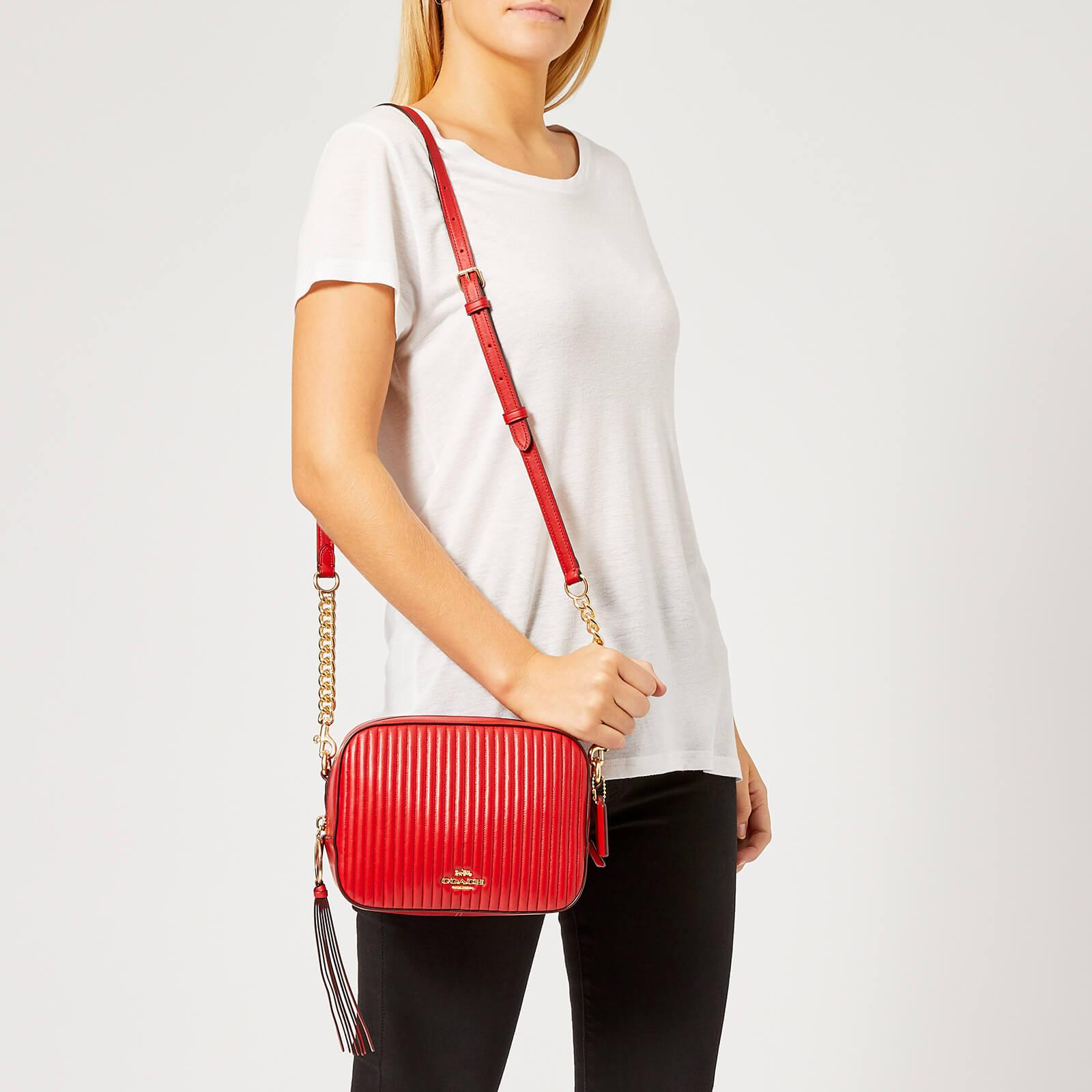 c72ca053383e Lyst - COACH Quilted Leather Camera Bag in Red