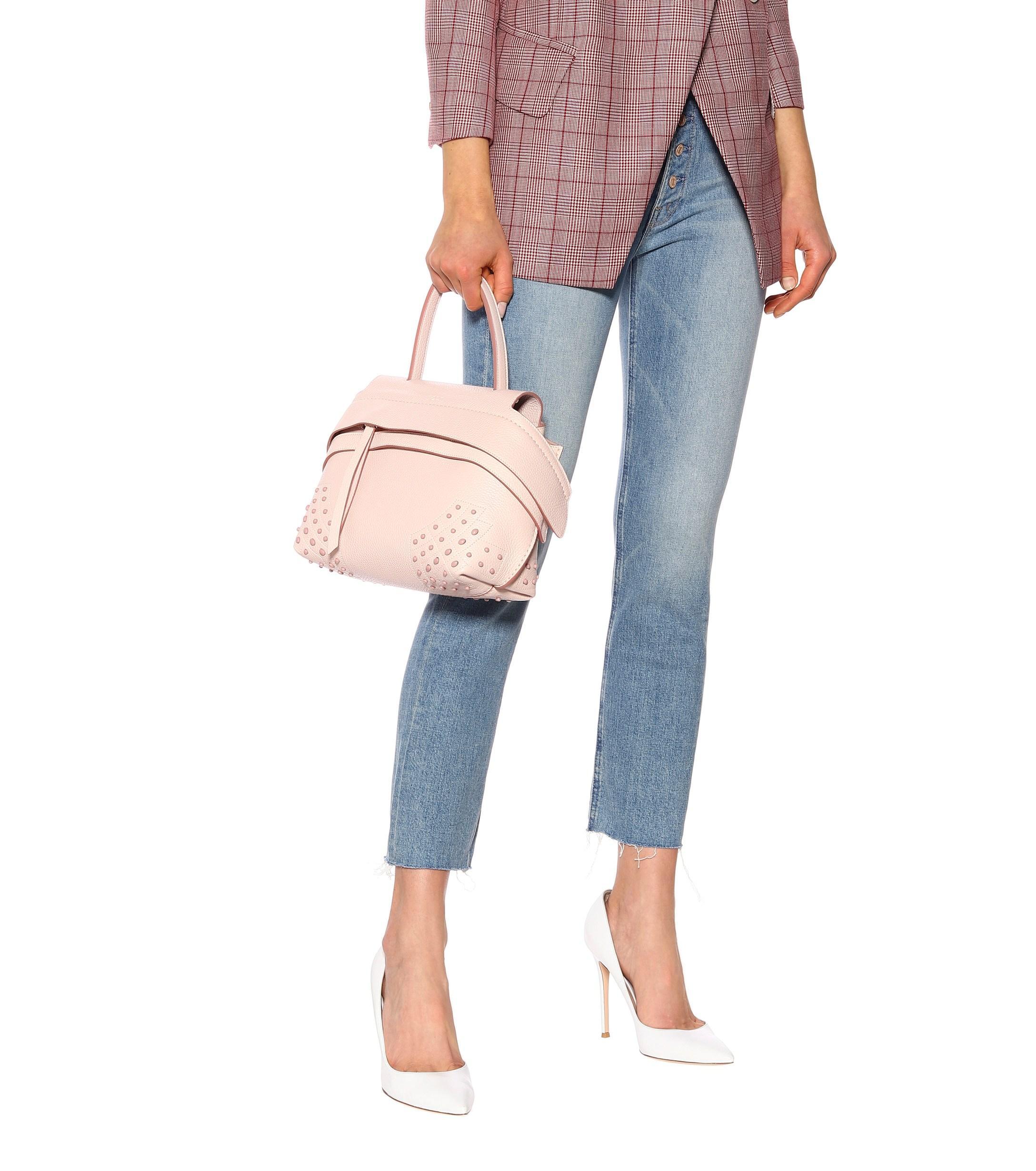 92f48ed5b14d Tod s - Pink Wave Mini Leather Shoulder Bag - Lyst. View fullscreen