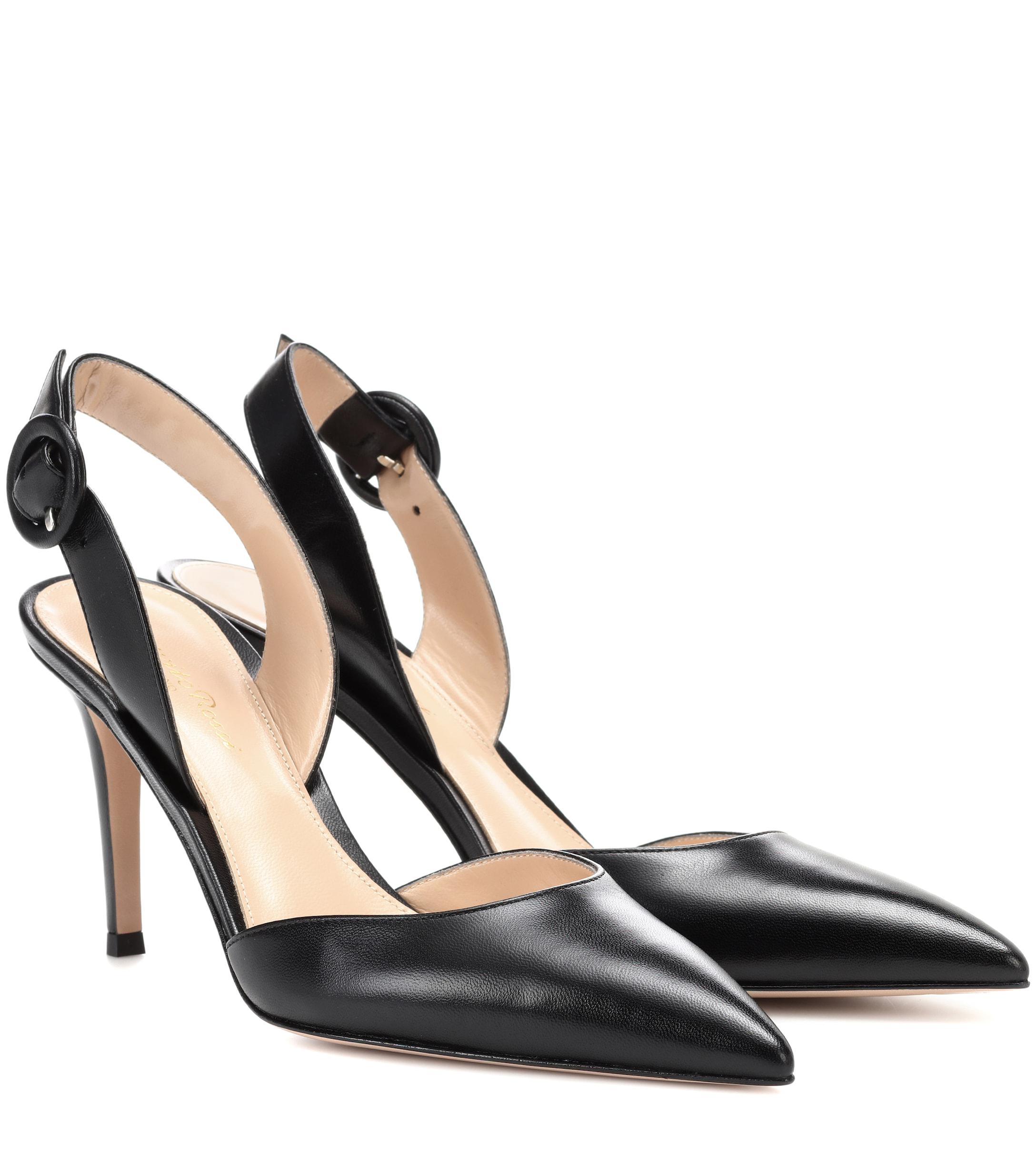 80c3edc5a9f Lyst - Gianvito Rossi Exclusive To Mytheresa.com – Leather Slingback ...