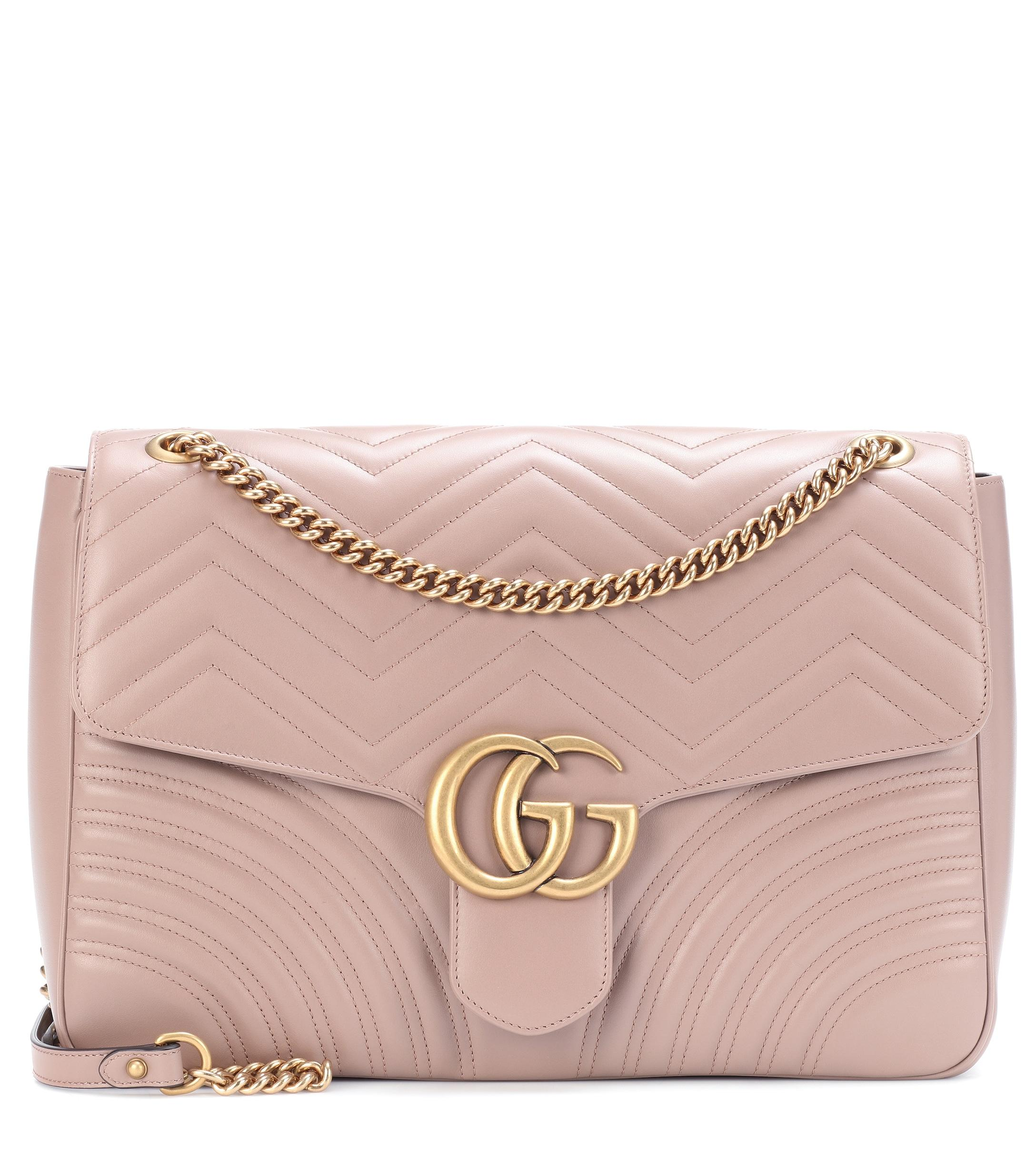 4257415d324 Gucci GG Marmont Large Shoulder Bag in Pink - Lyst