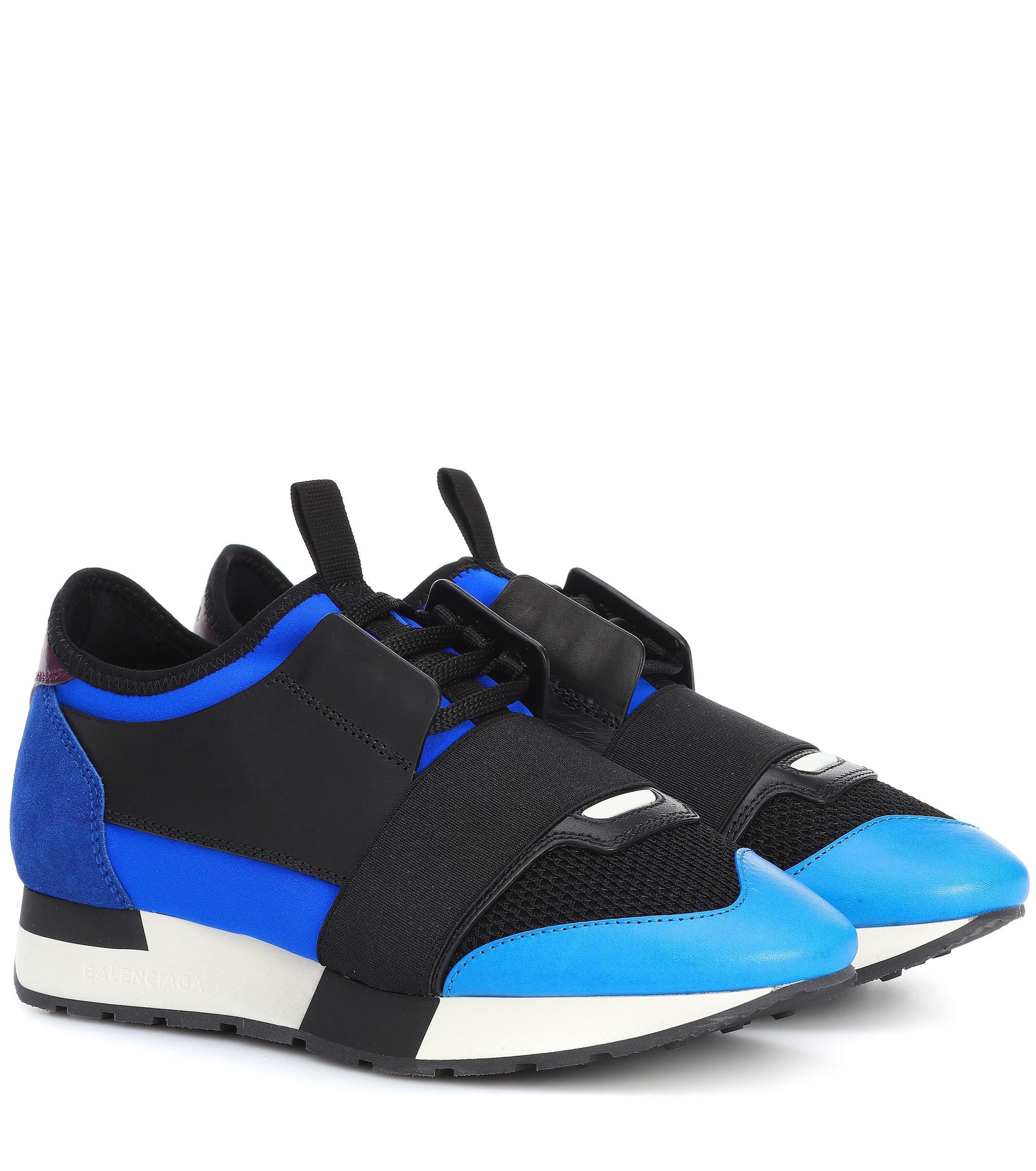deacea685b14e Lyst - Balenciaga Race Runner Sneakers in Blue - Save 50%