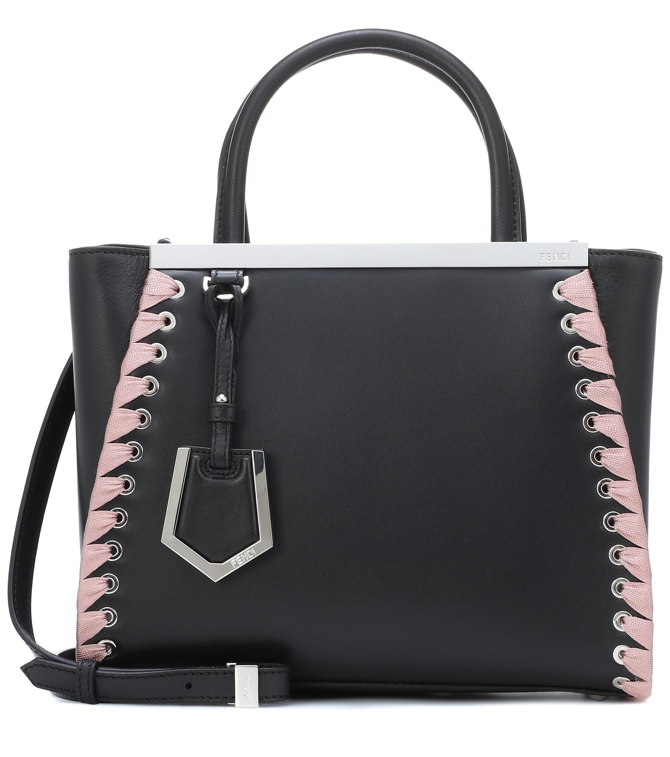 401b2634a071 Fendi - Black Petite 2jours Leather Tote - Lyst. View fullscreen