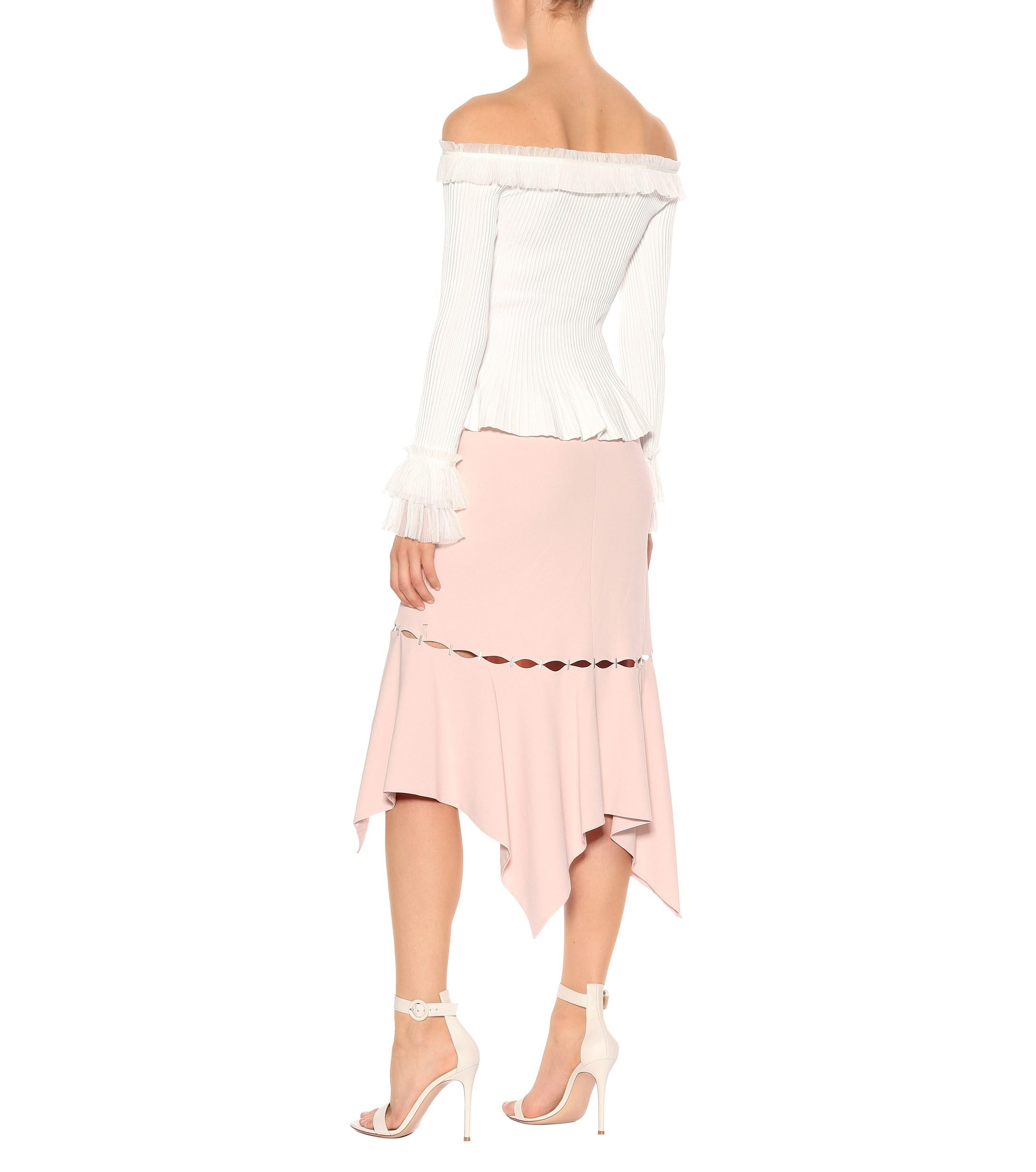 351d5fb957a102 Jonathan Simkhai - White Ruffled Off-the-shoulder Top - Lyst. View  fullscreen