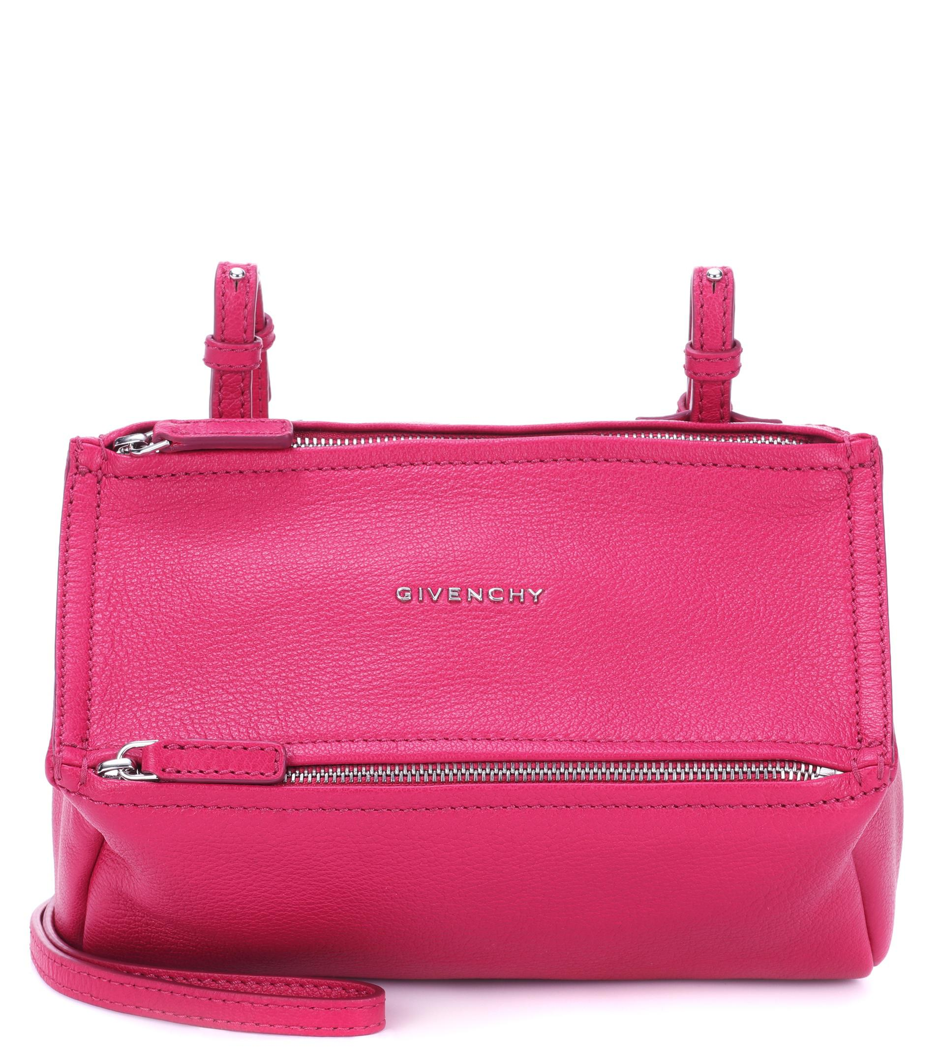 1936ac04afbf Lyst - Sac cross-body en cuir Pandora Mini Givenchy en coloris Rose