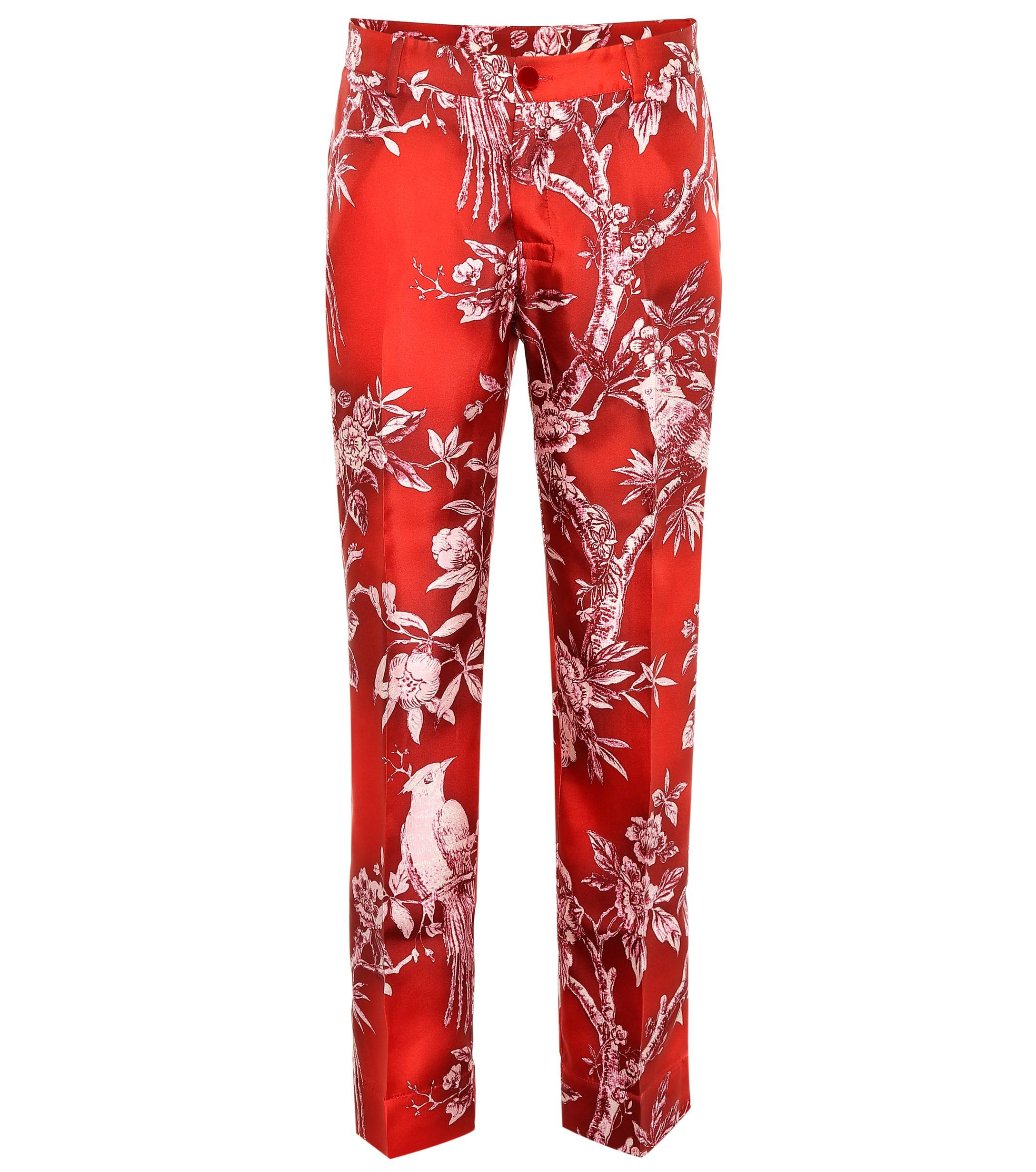 4dd3ffce5a F.R.S For Restless Sleepers. Women s Red Tartaro Printed Silk Pajama Pants