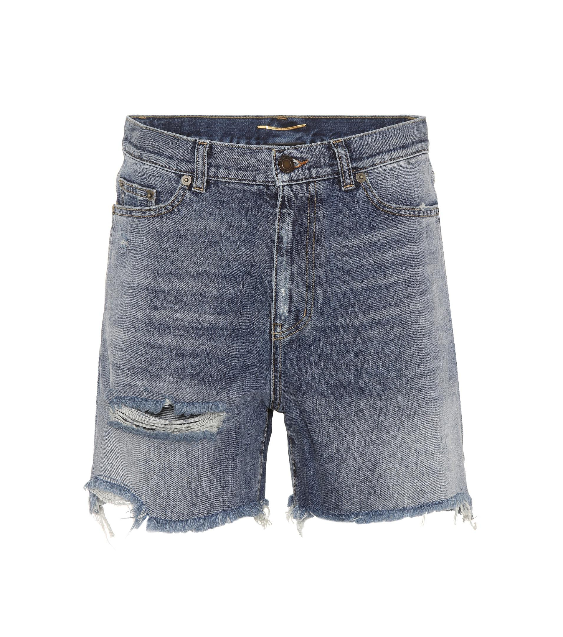 classic denim shorts - Grey Saint Laurent DqjtYjKY3D