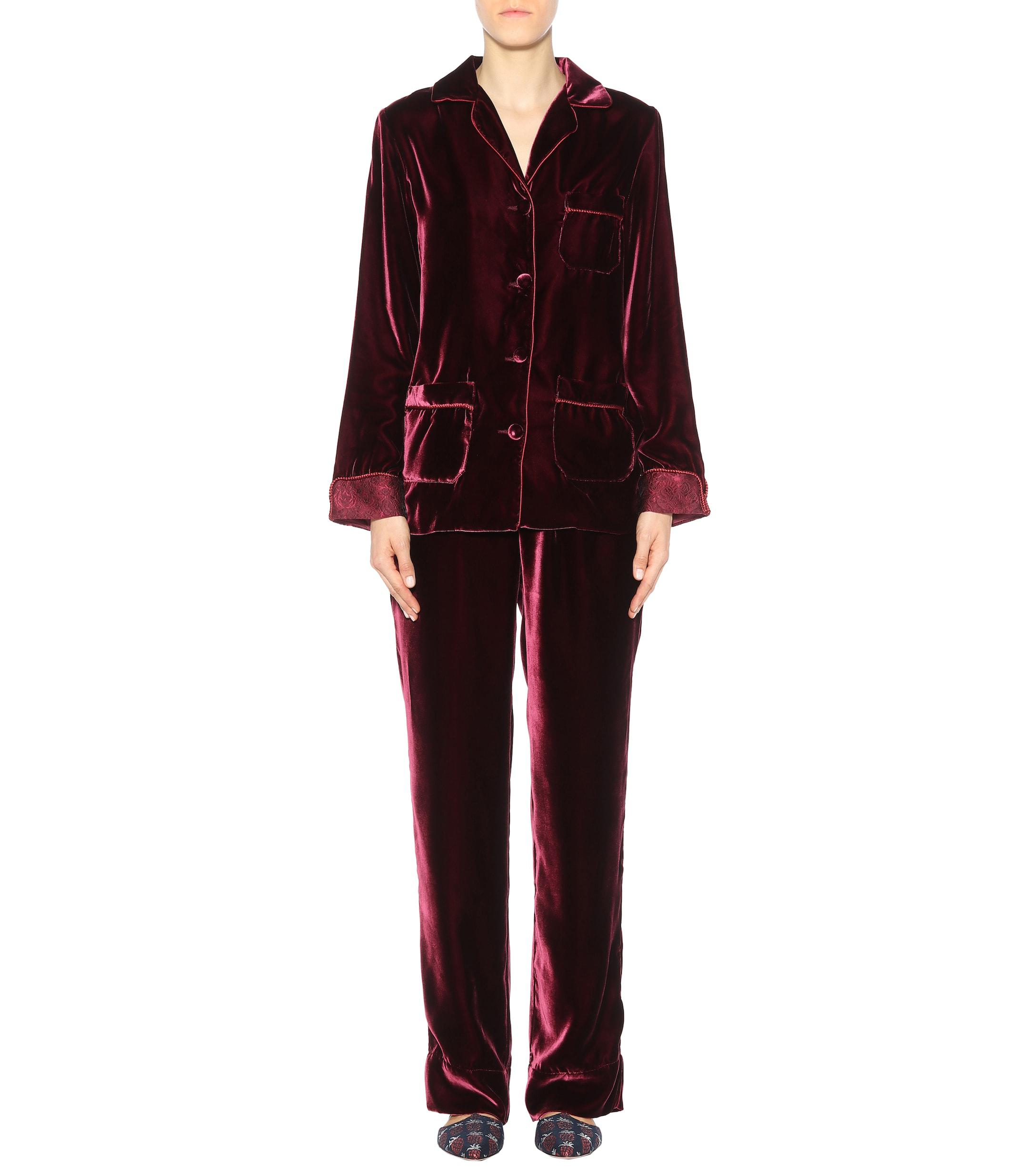1aedb1431 Lyst - F.R.S For Restless Sleepers Rea Velvet Shirt in Red