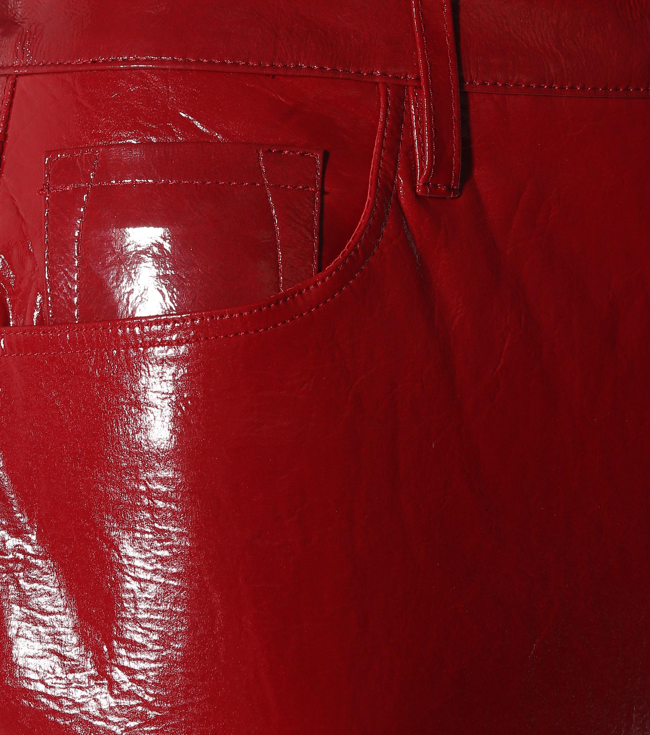 0958ee57278c J Brand - Red Ruby High-rise Patent Leather Pants - Lyst. View fullscreen