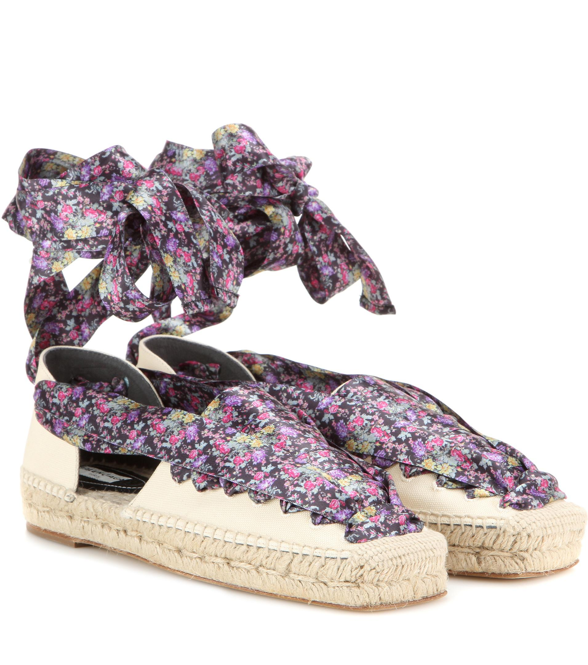 cheap sale footaction Cheapest Balenciaga 2017 Lace-Up Canvas Espadrilles cheap store cheap fast delivery B48Kq