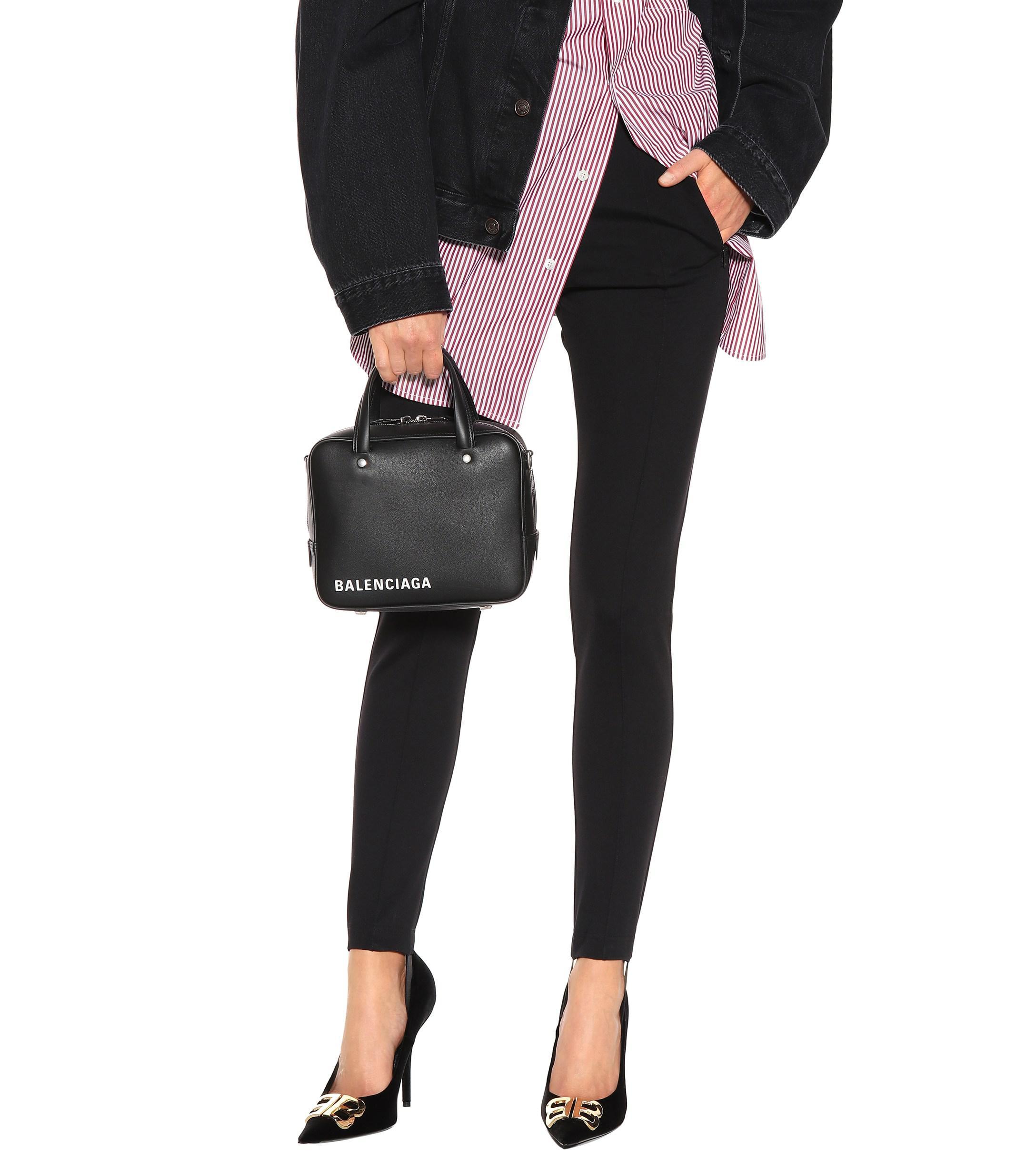 eb7b80fdd9a Lyst - Balenciaga Triangle Square Xs Shoulder Bag in Black