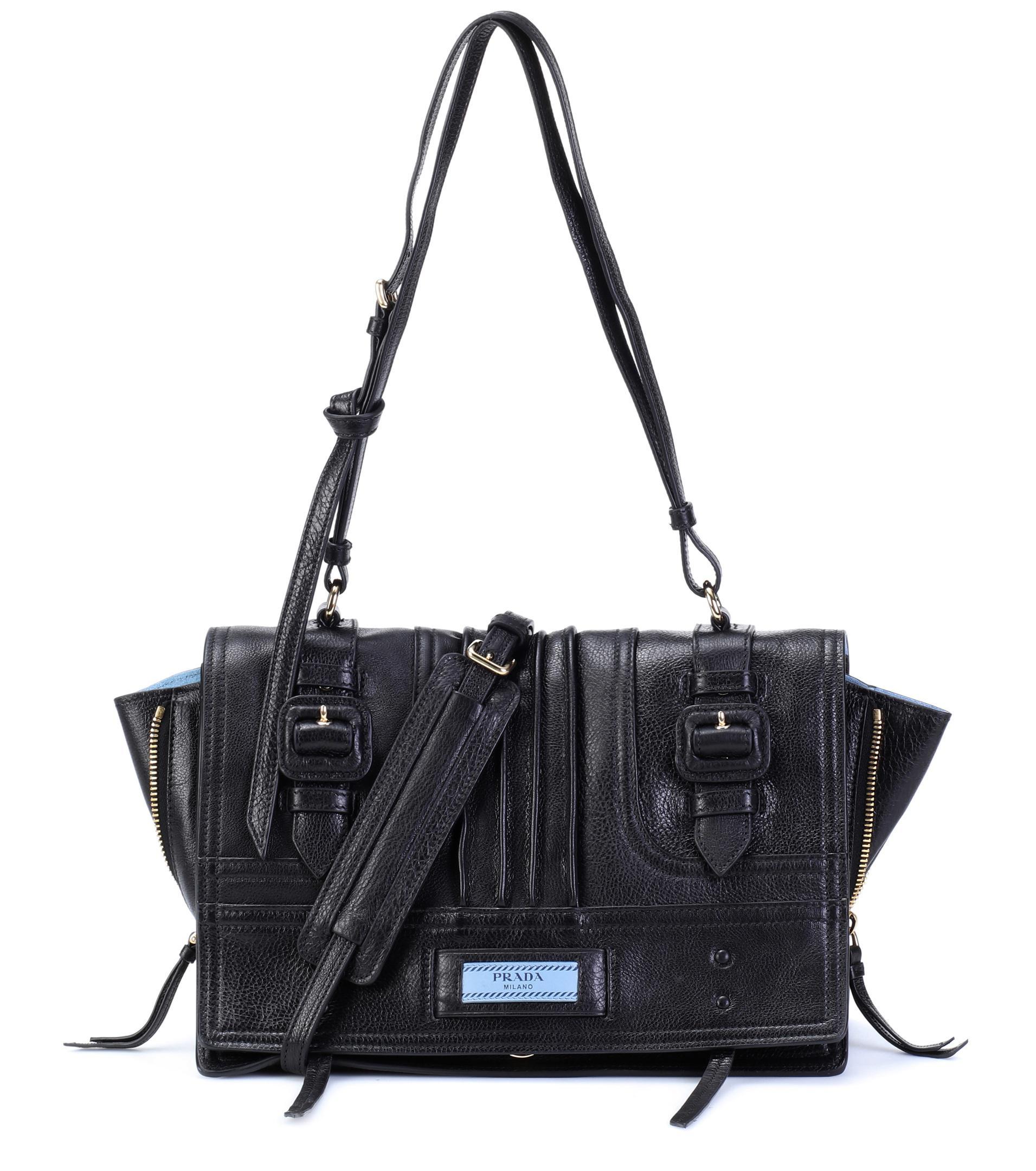 Prada Glace Etiquette Fringe Shoulder Bag h2PmFocZaY