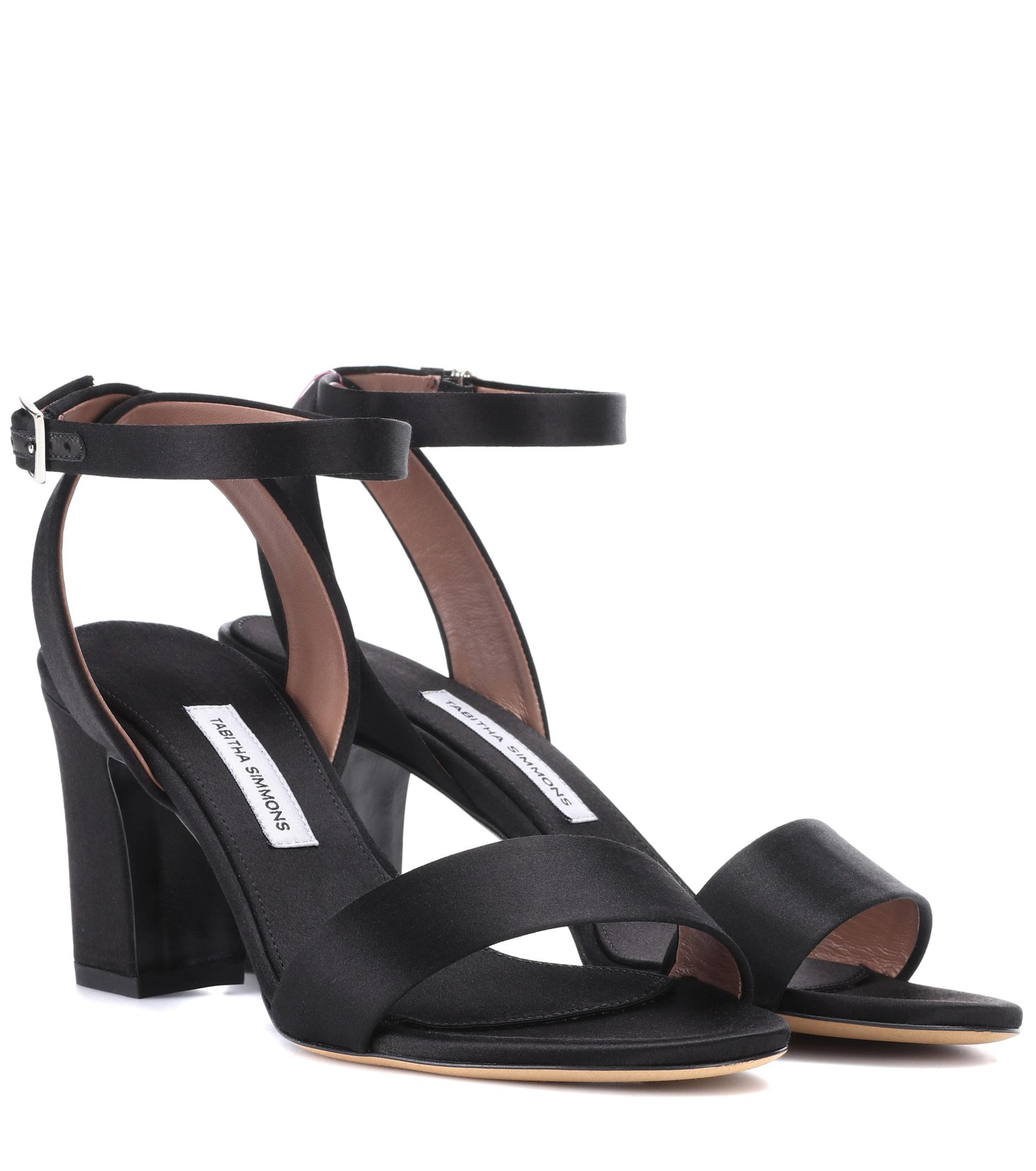 5e9c66524cd Tabitha Simmons - Black Leticia Satin Sandals - Lyst. View fullscreen
