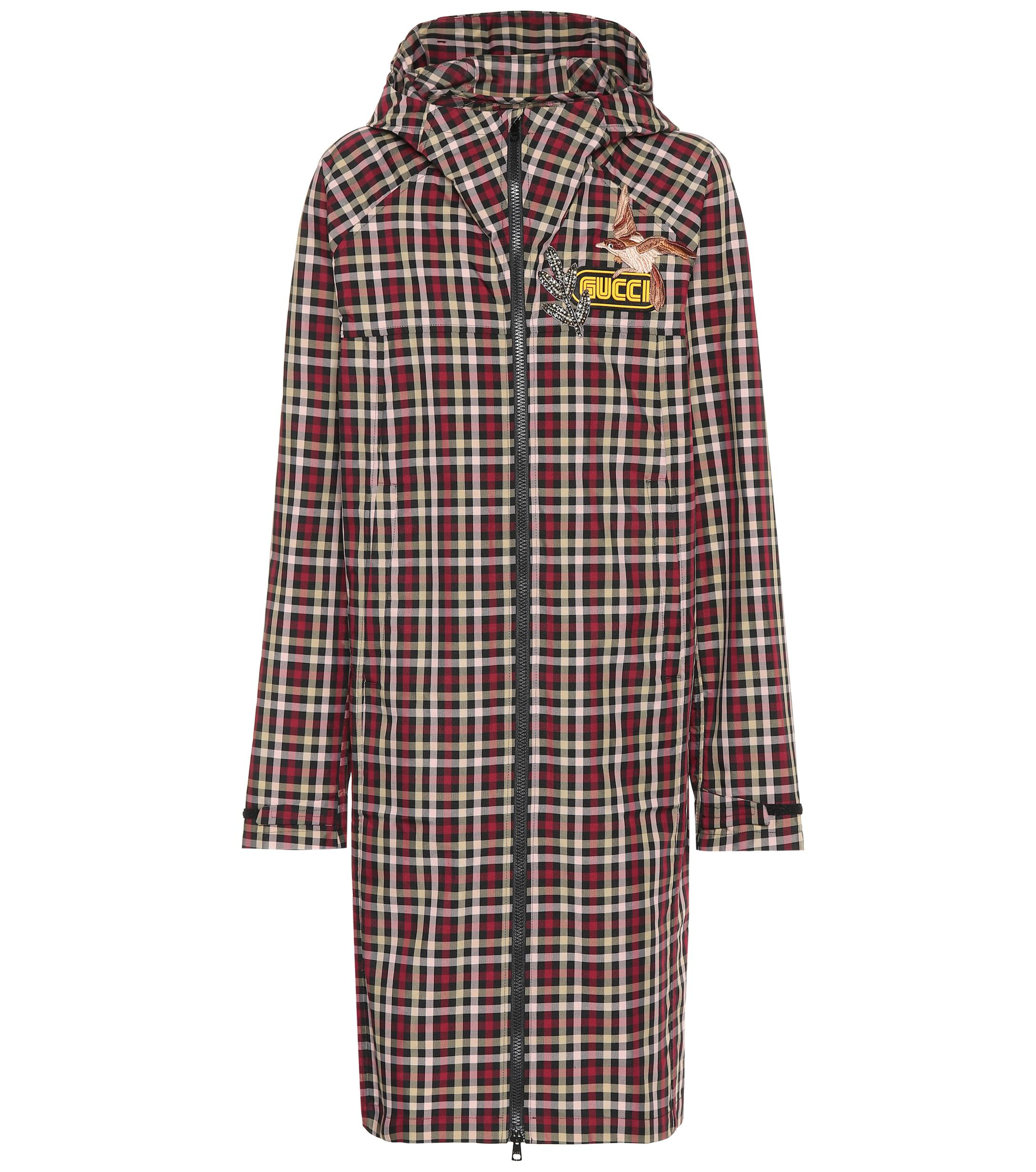 9dafd05ee Gucci Plaid Coat in Brown - Lyst