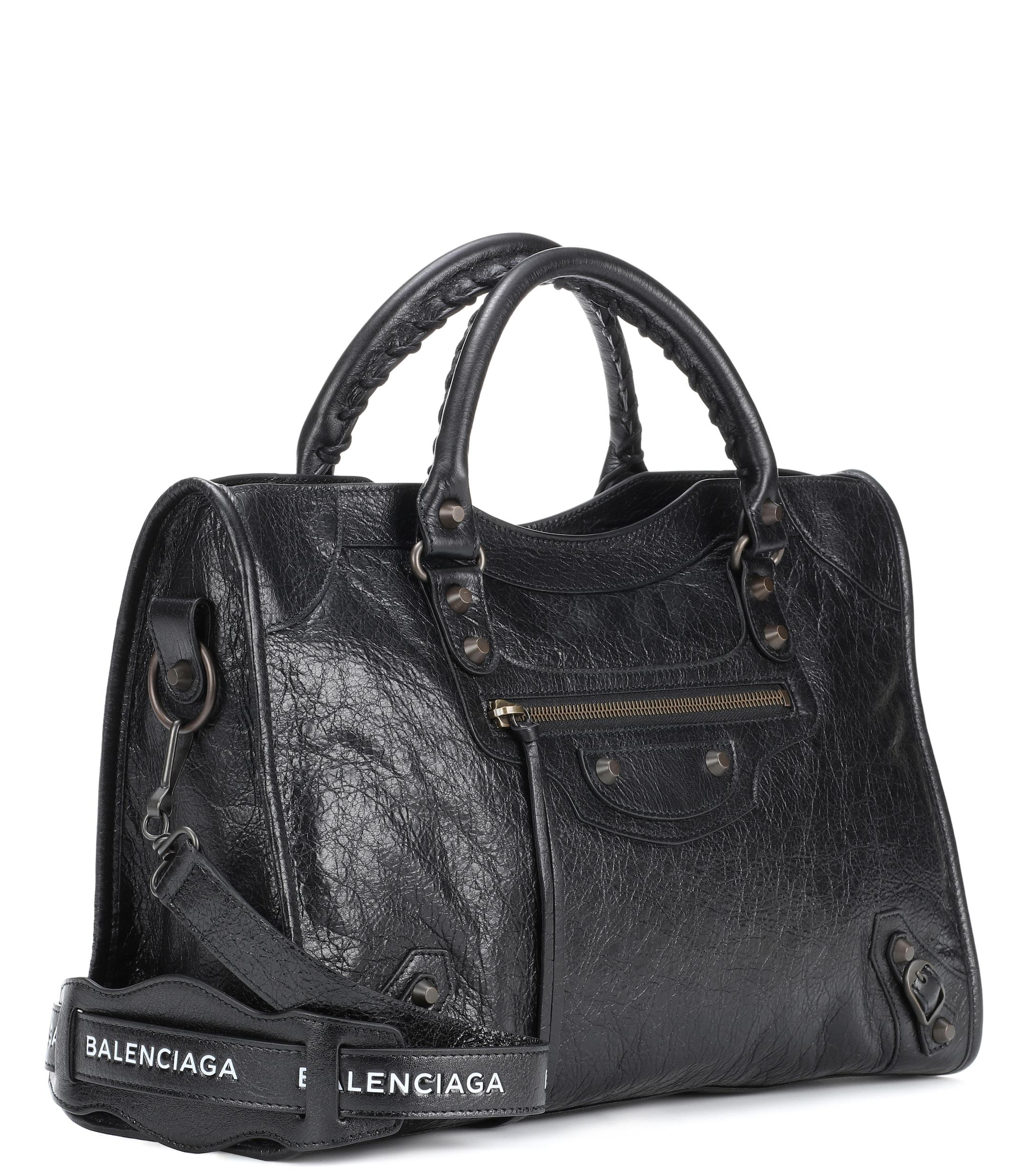 9665037522 Balenciaga - Black Classic City Medium Leather Shoulder Bag - Lyst. View  fullscreen
