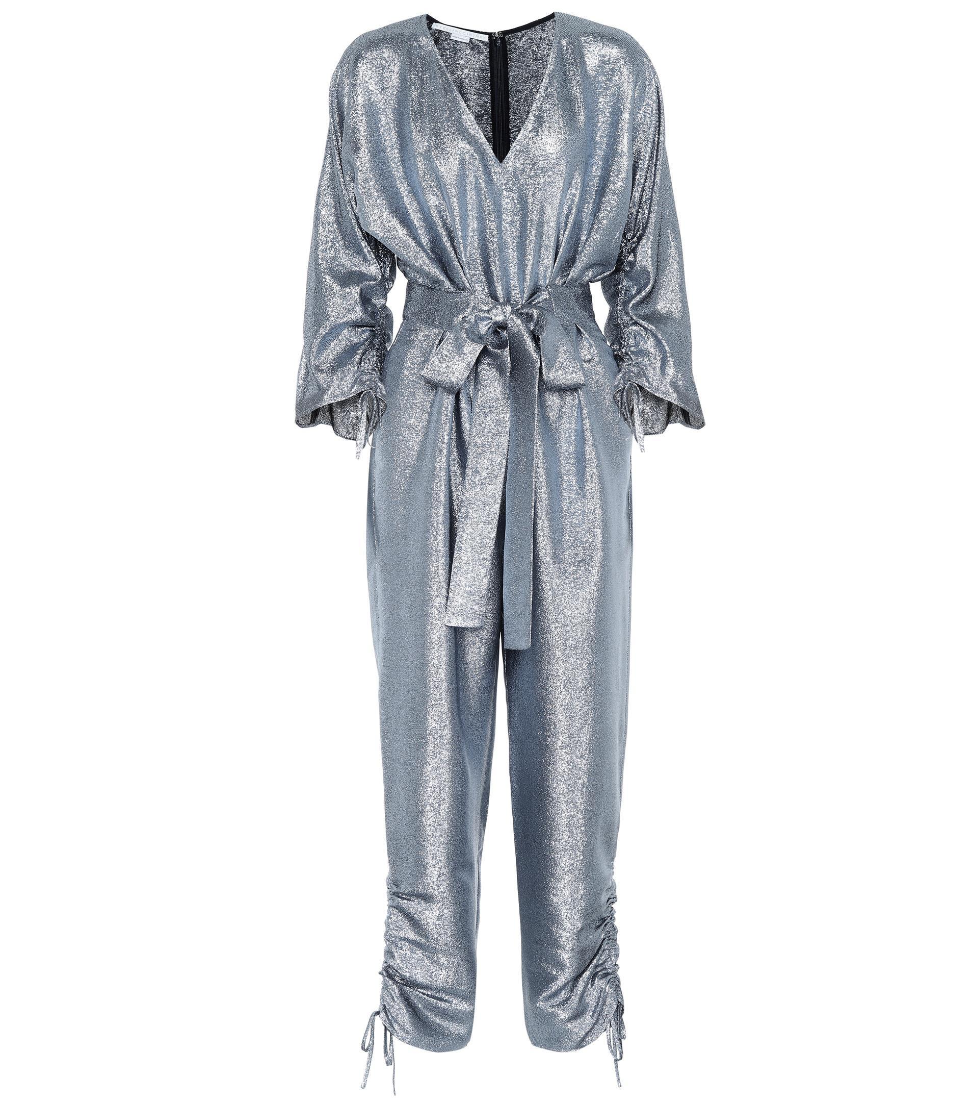 4ec4676f0412 Lyst - Stella McCartney Metallic Jumpsuit in Blue