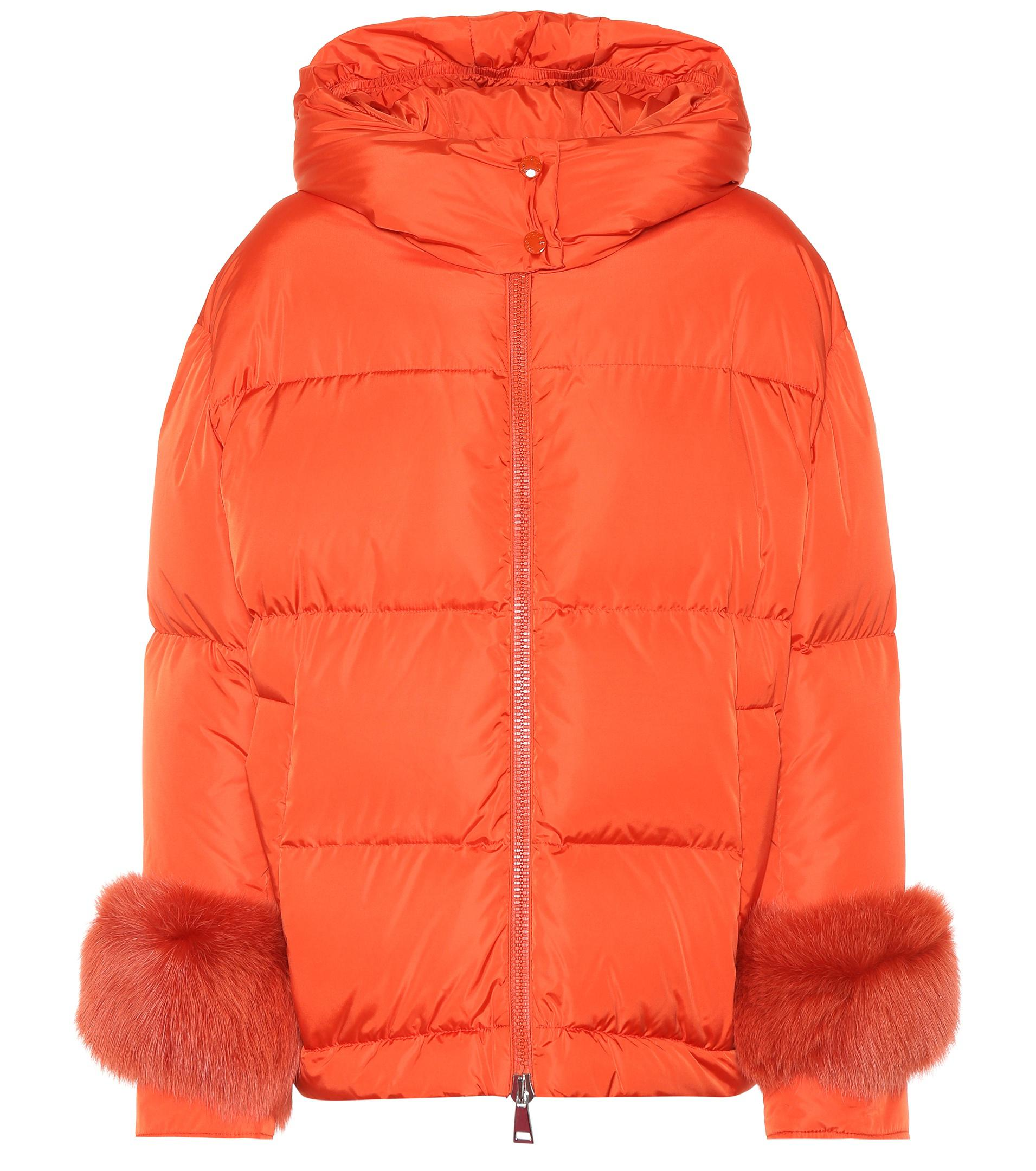 3bbea5bf9 low price moncler down jacket red orange 3aef7 769fd