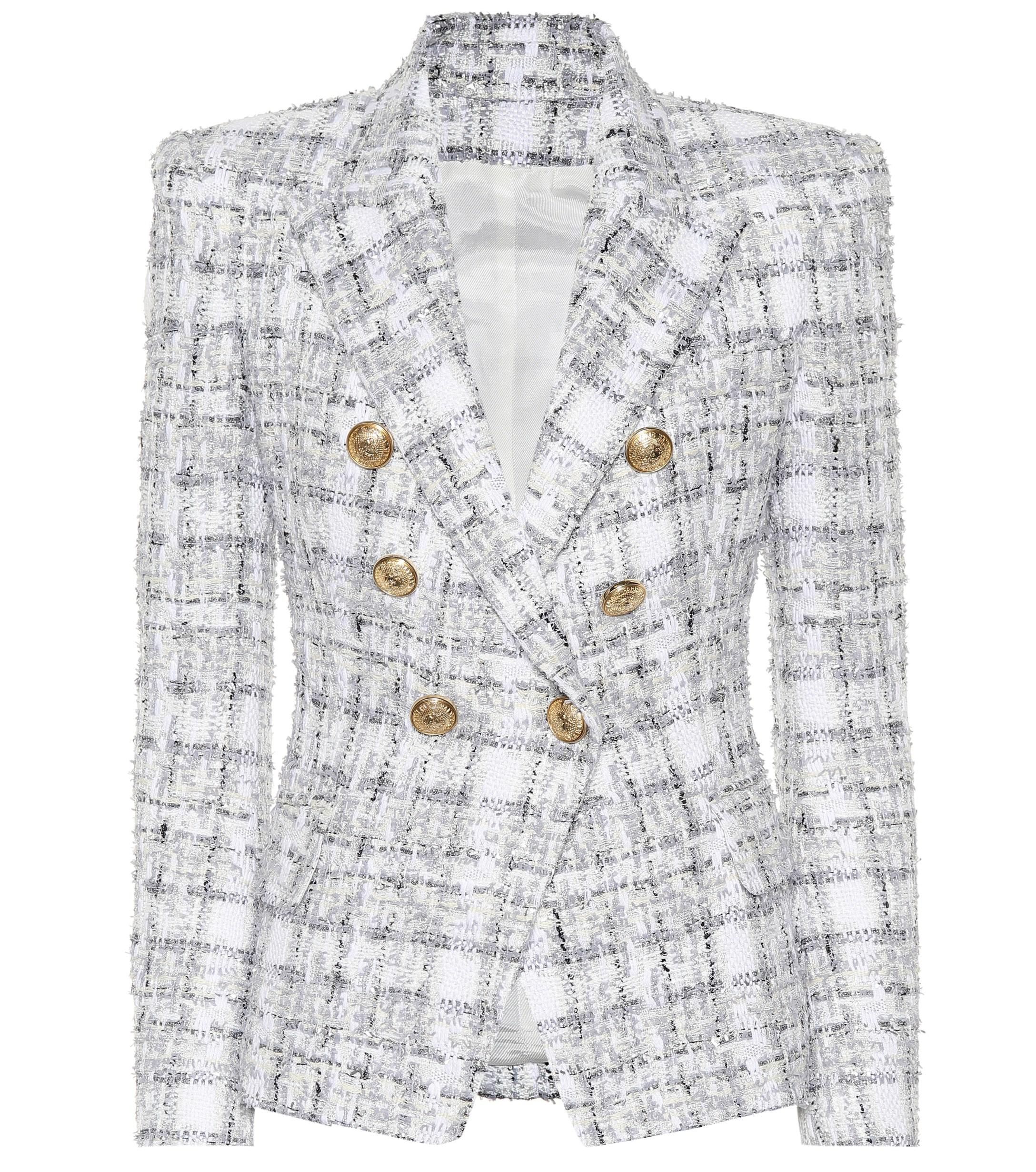 c69d98a5 Balmain Exclusive To Mytheresa – Double-breasted Tweed Blazer in ...