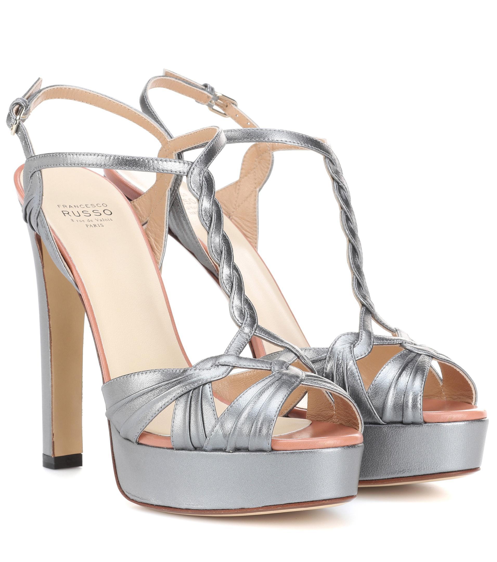 Francesco Russo Leather platform sandals i8tdt