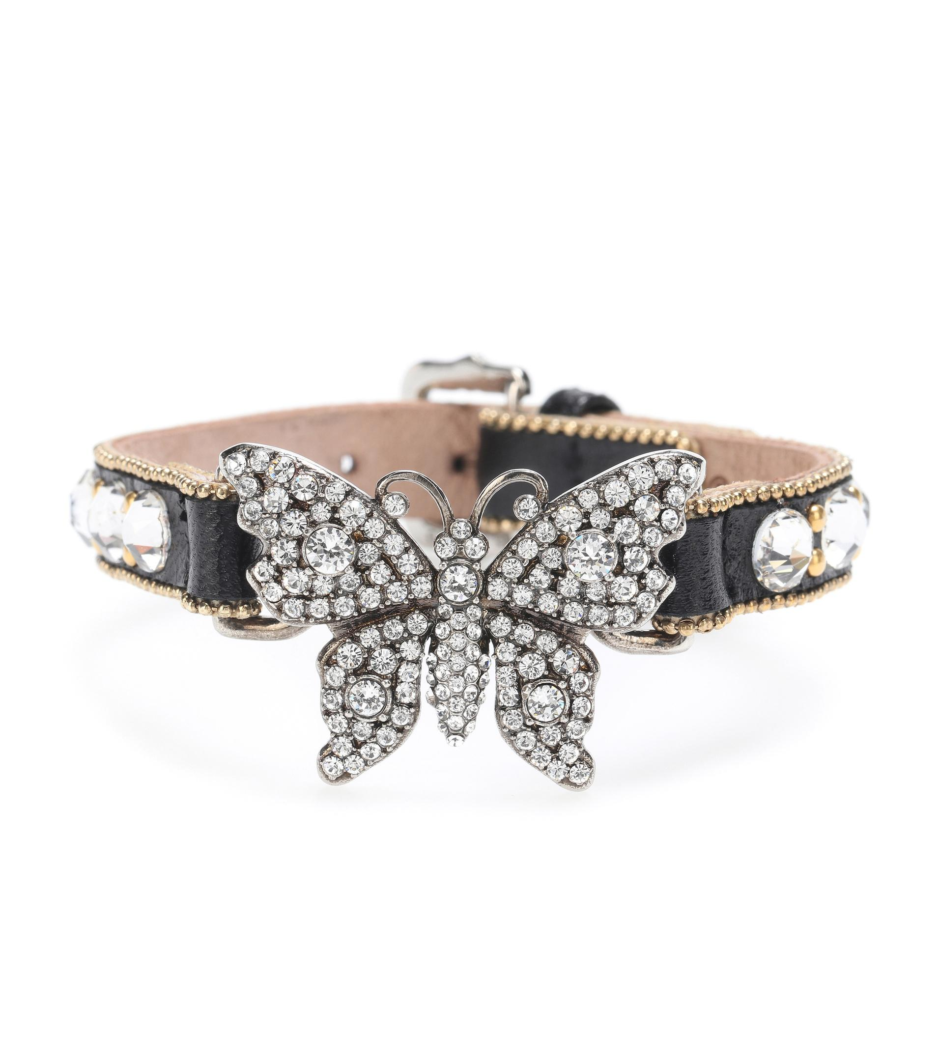 Glass stone-embellished bracelet Gucci