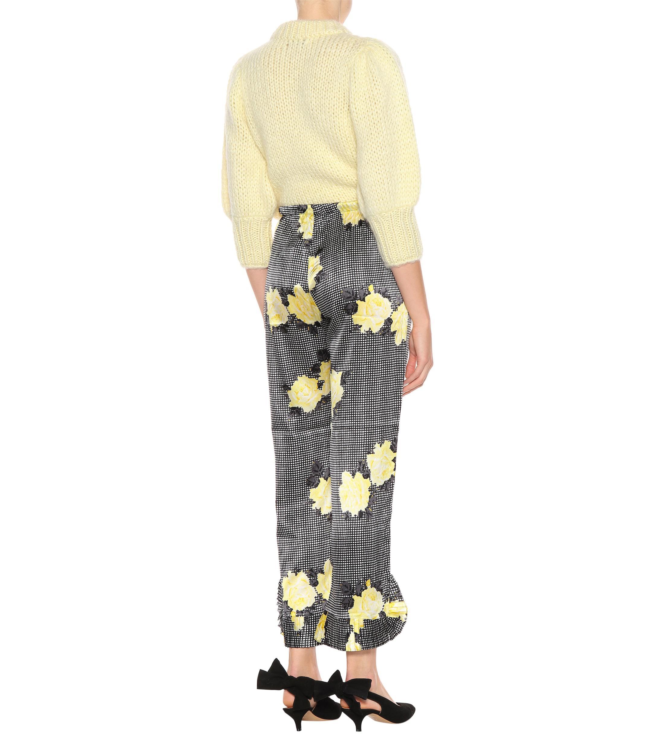 f10e994c9e3 Ganni - Black Calla Silk Pants - Lyst. View fullscreen