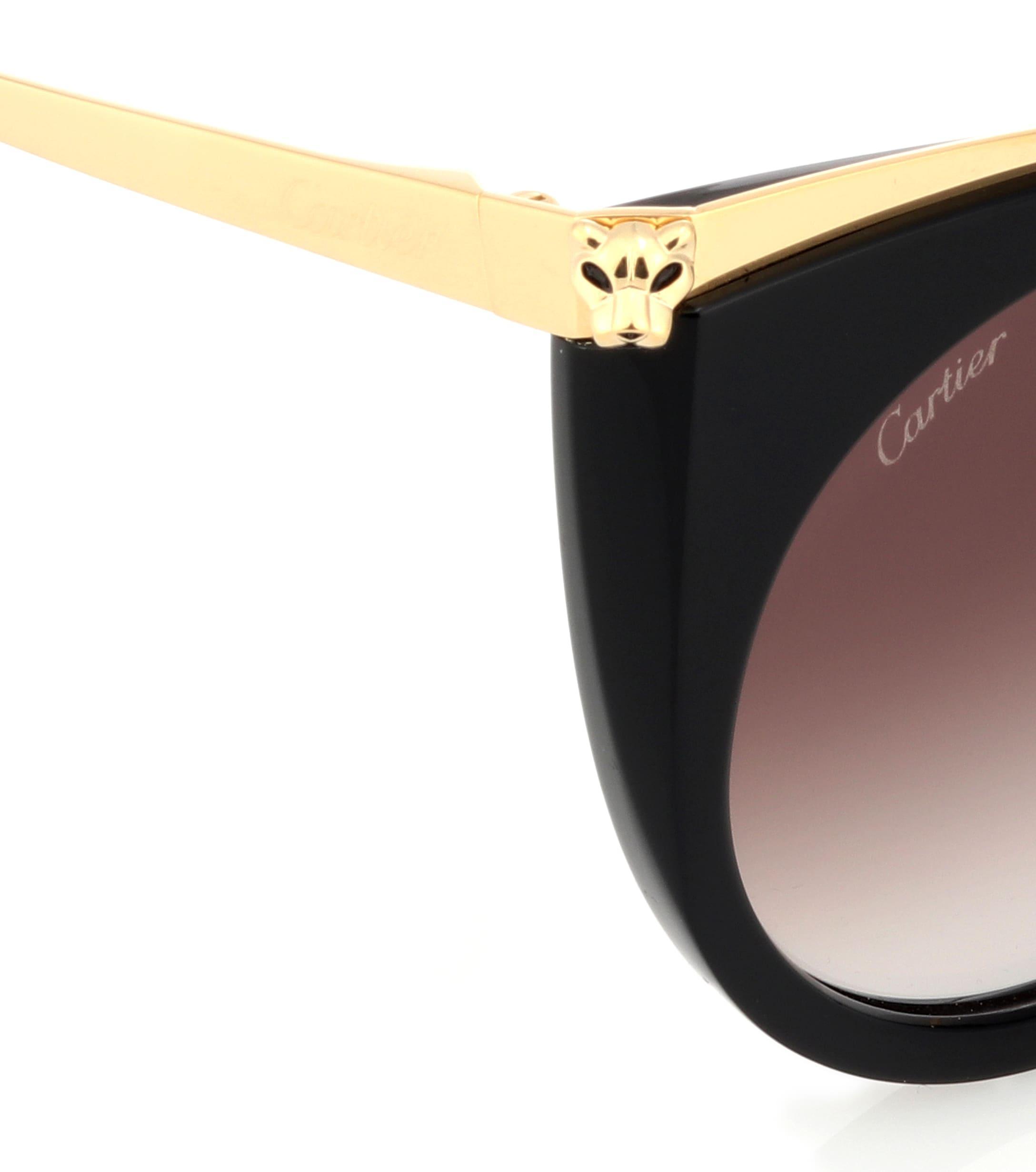 Cartier - Black Gafas de sol cat-eye Panthère de Cartier - Lyst. Ver en  pantalla completa 69daa1c3b640