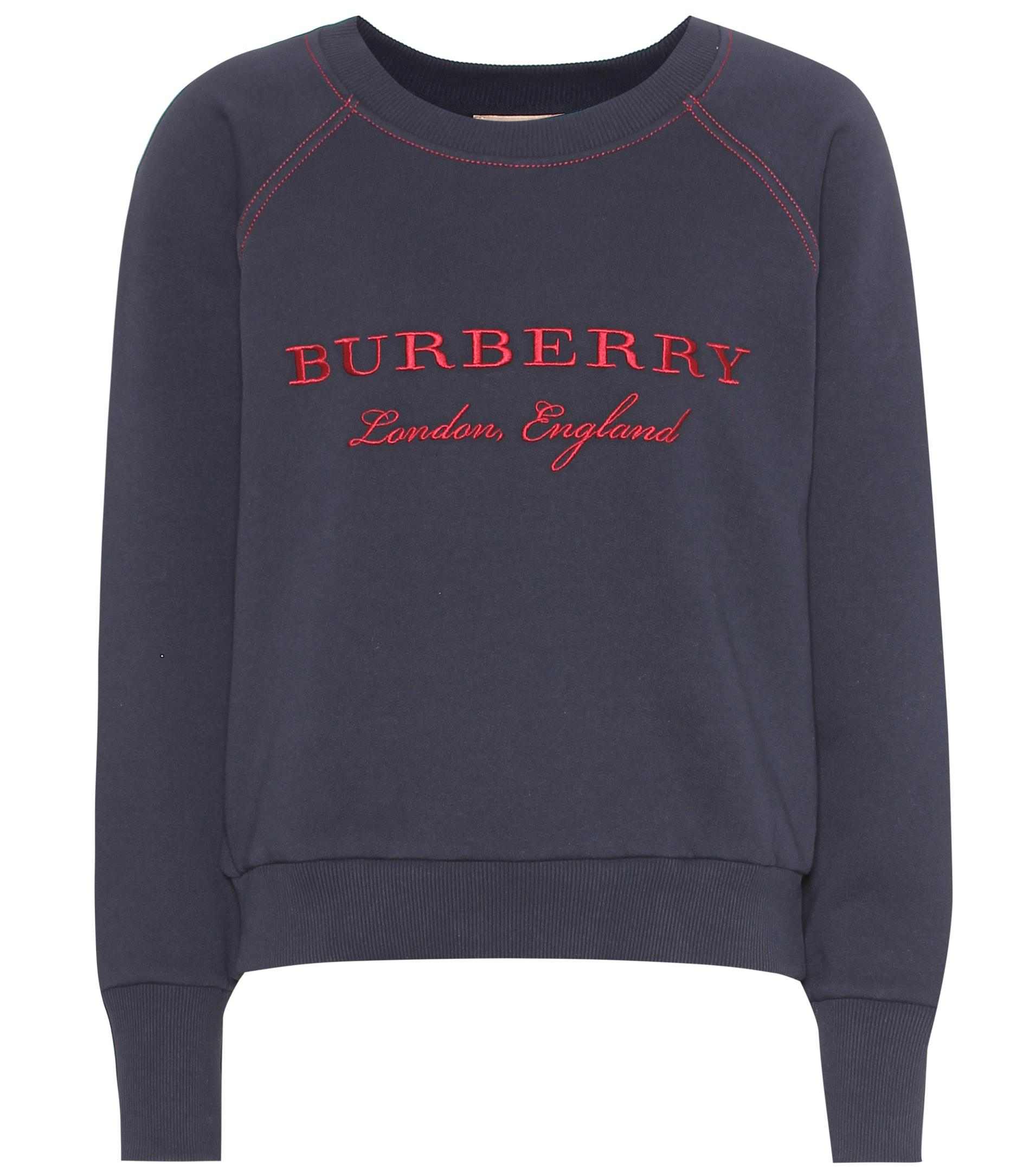 Cotton Burberry Sweater Embroidered Embroidered blend Cotton Burberry T0gxw