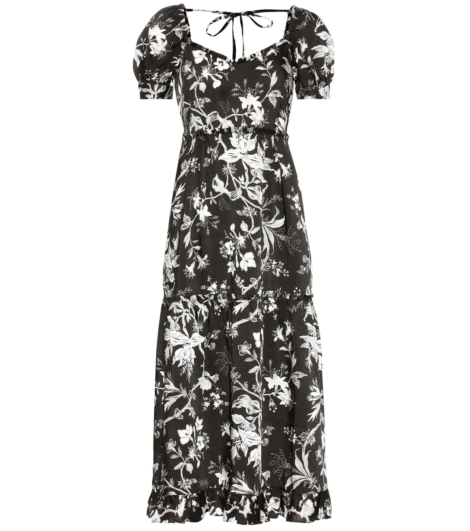 Sale Perfect Cheap Sale 100% Guaranteed Ruffled Négligé Soho Florals dress Alexander McQueen Outlet Low Shipping Fee 5zm8E