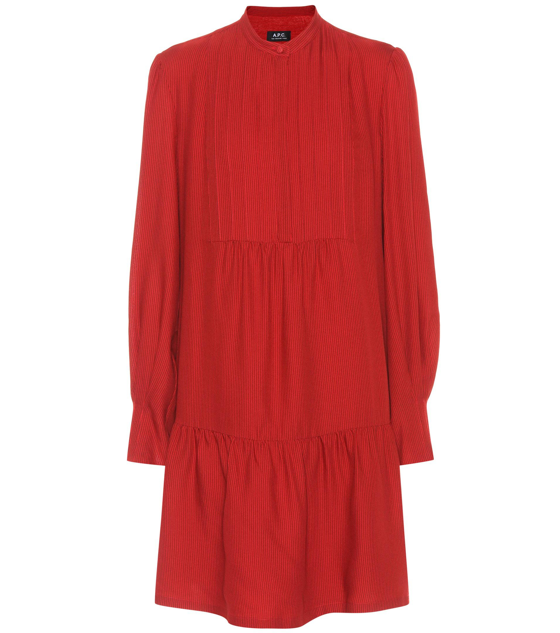 Jones wool and silk-blend dress A.P.C. yfSmN
