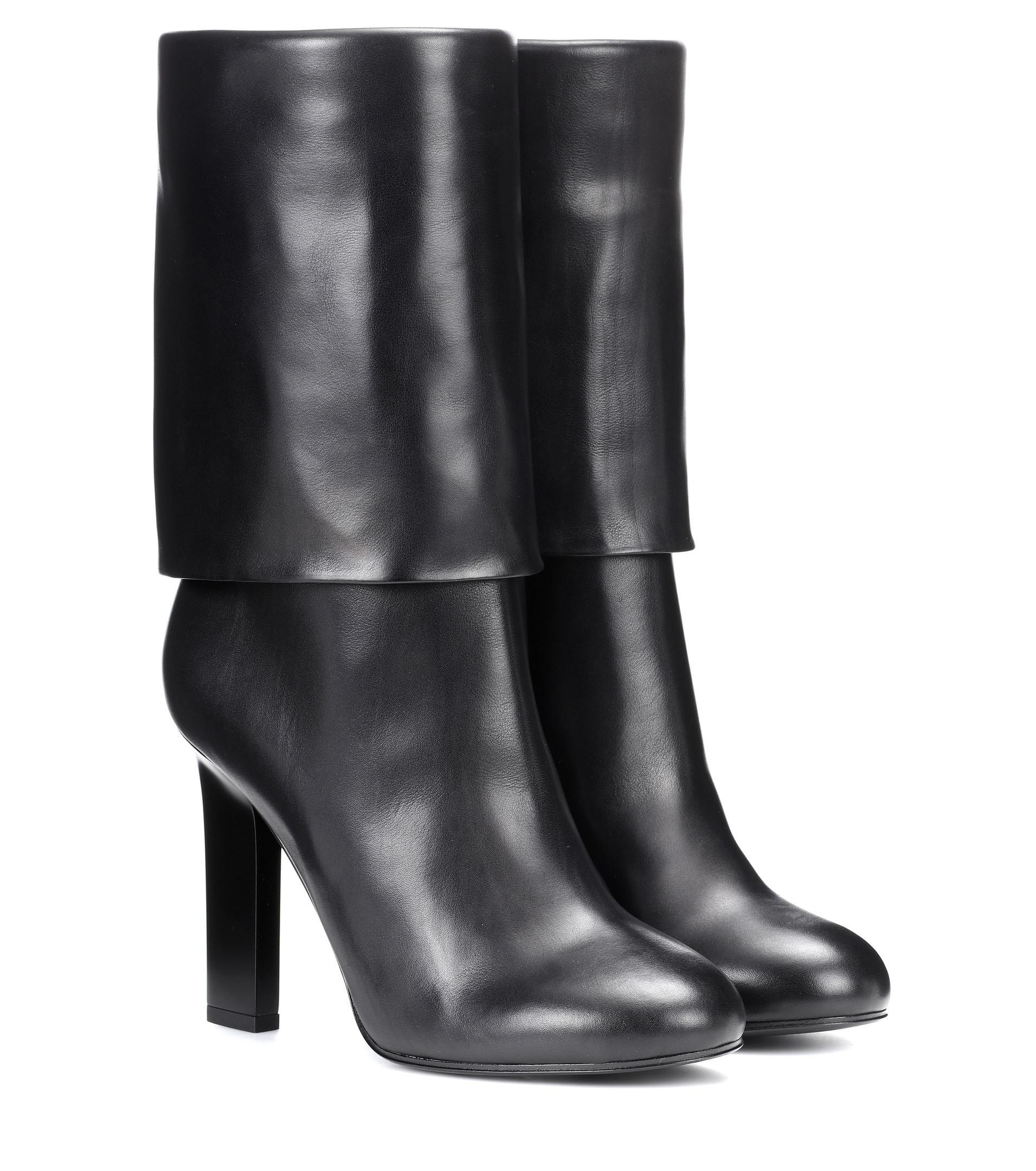 lyst victoria beckham leather ankle boots in black. Black Bedroom Furniture Sets. Home Design Ideas