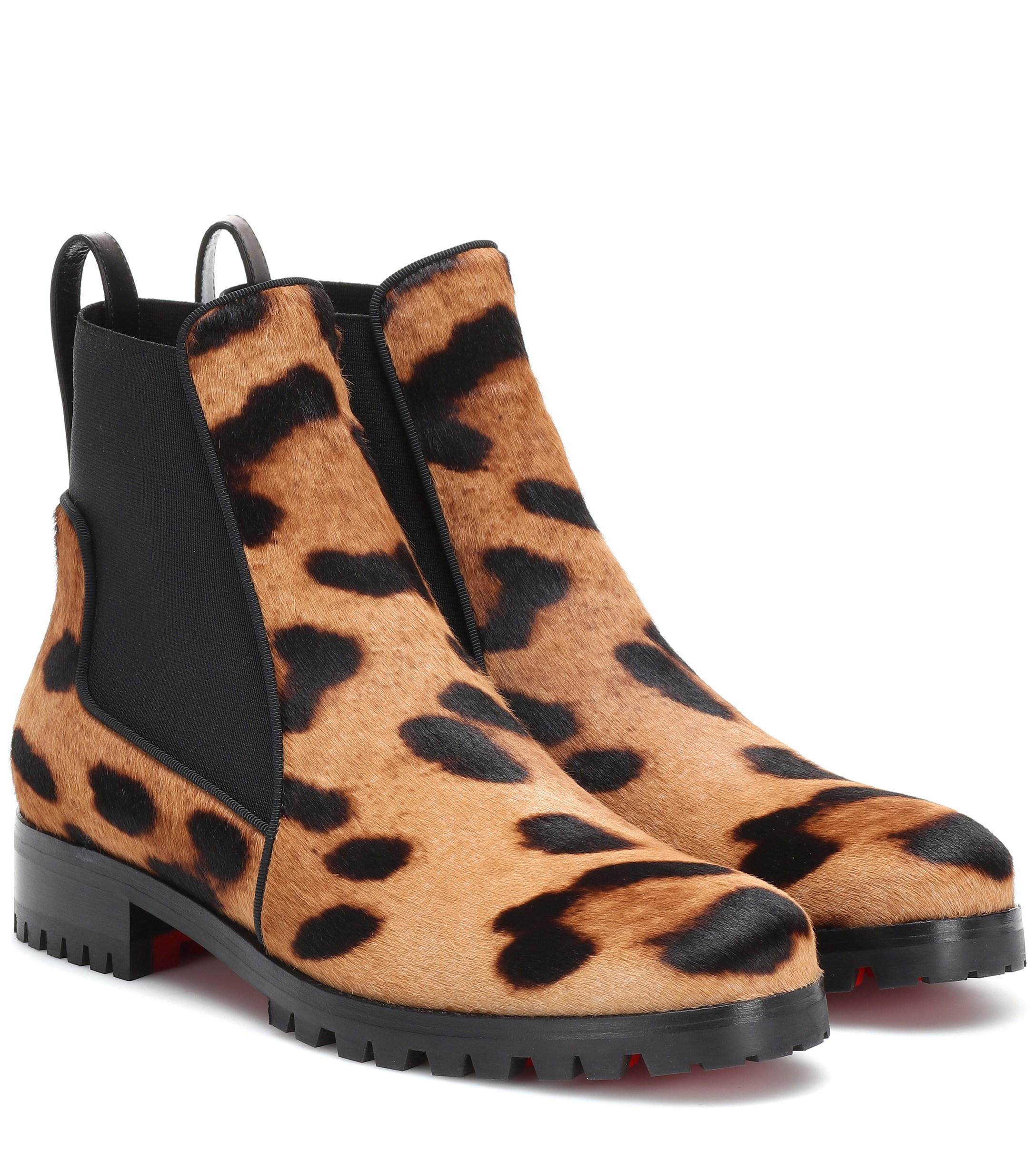48c6e715007 Women's Brown Marchacroche Calf Hair Ankle Boots
