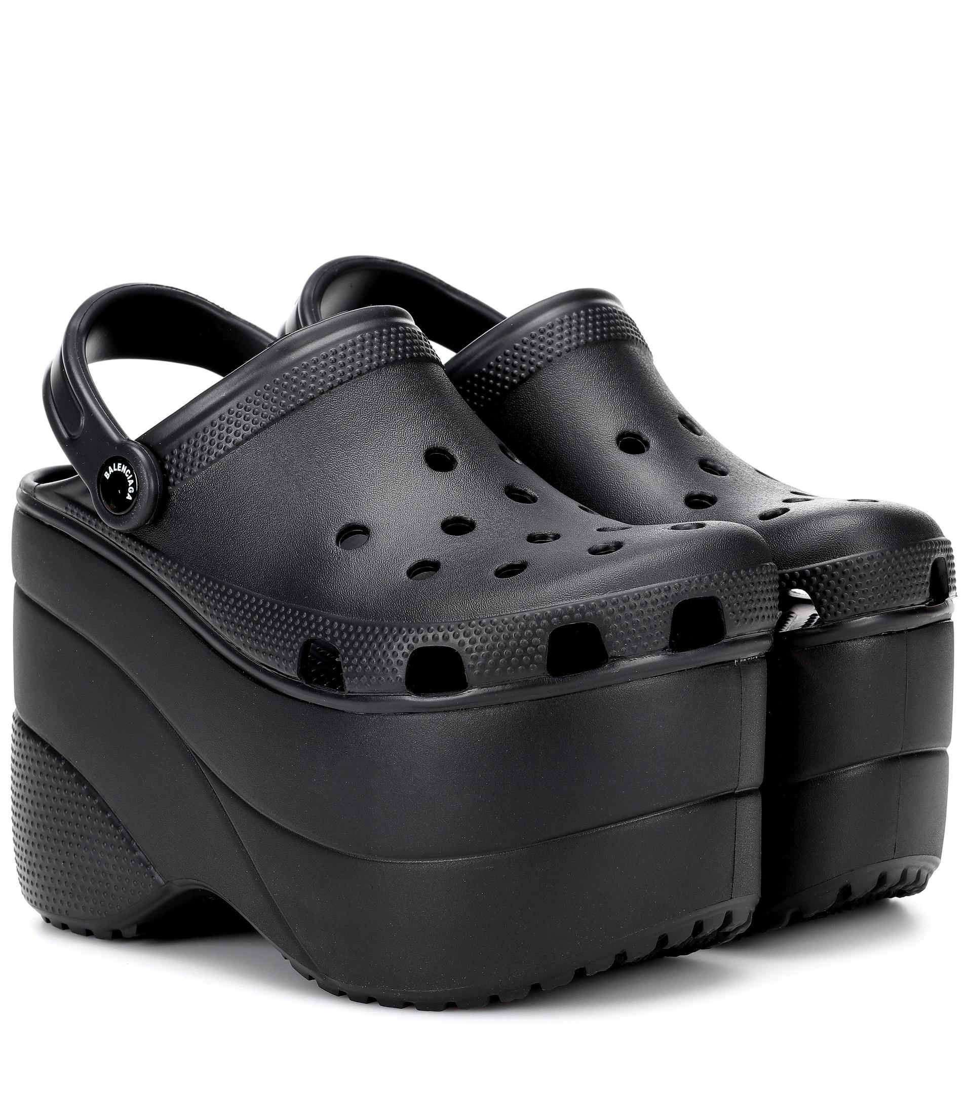 6cd1471b5f70 Lyst - Balenciaga Platform Crocs in Black