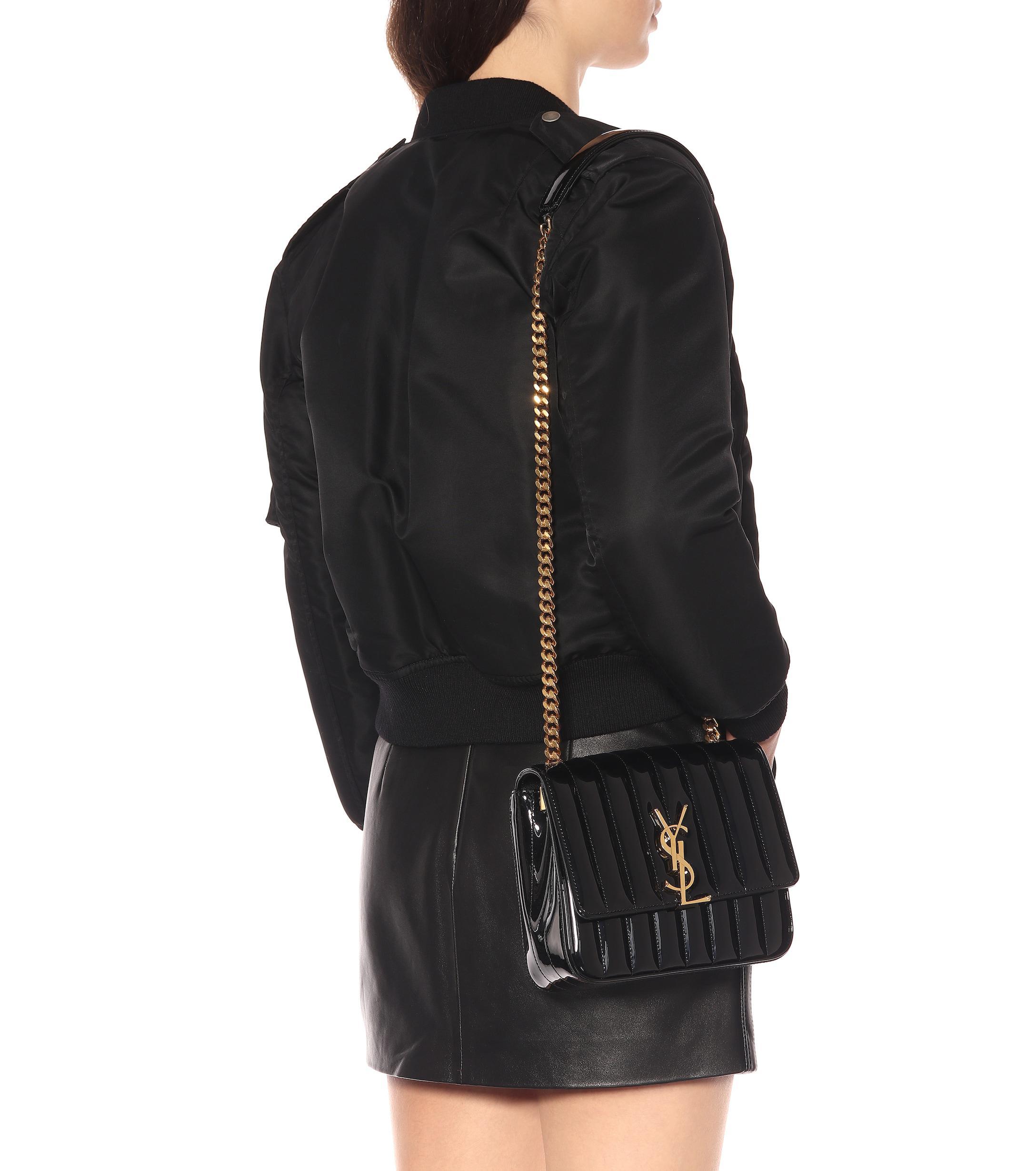 a88f9b11455 Saint Laurent - Black Small Vicky Leather Crossbody Bag - Lyst. View  fullscreen