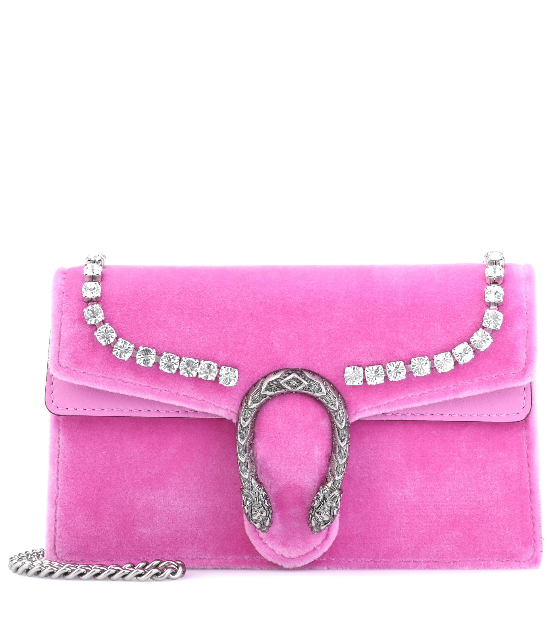 249b35ad0623 Gucci Dionysus Super Mini Shoulder Bag in Pink - Lyst