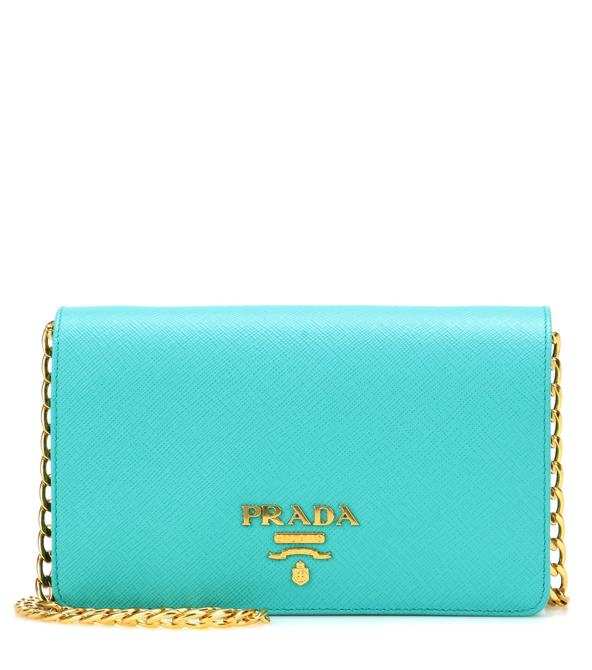 f0240b02685c Lyst - Prada Galleria Saffiano Lux Small Shoulder Bag in Green