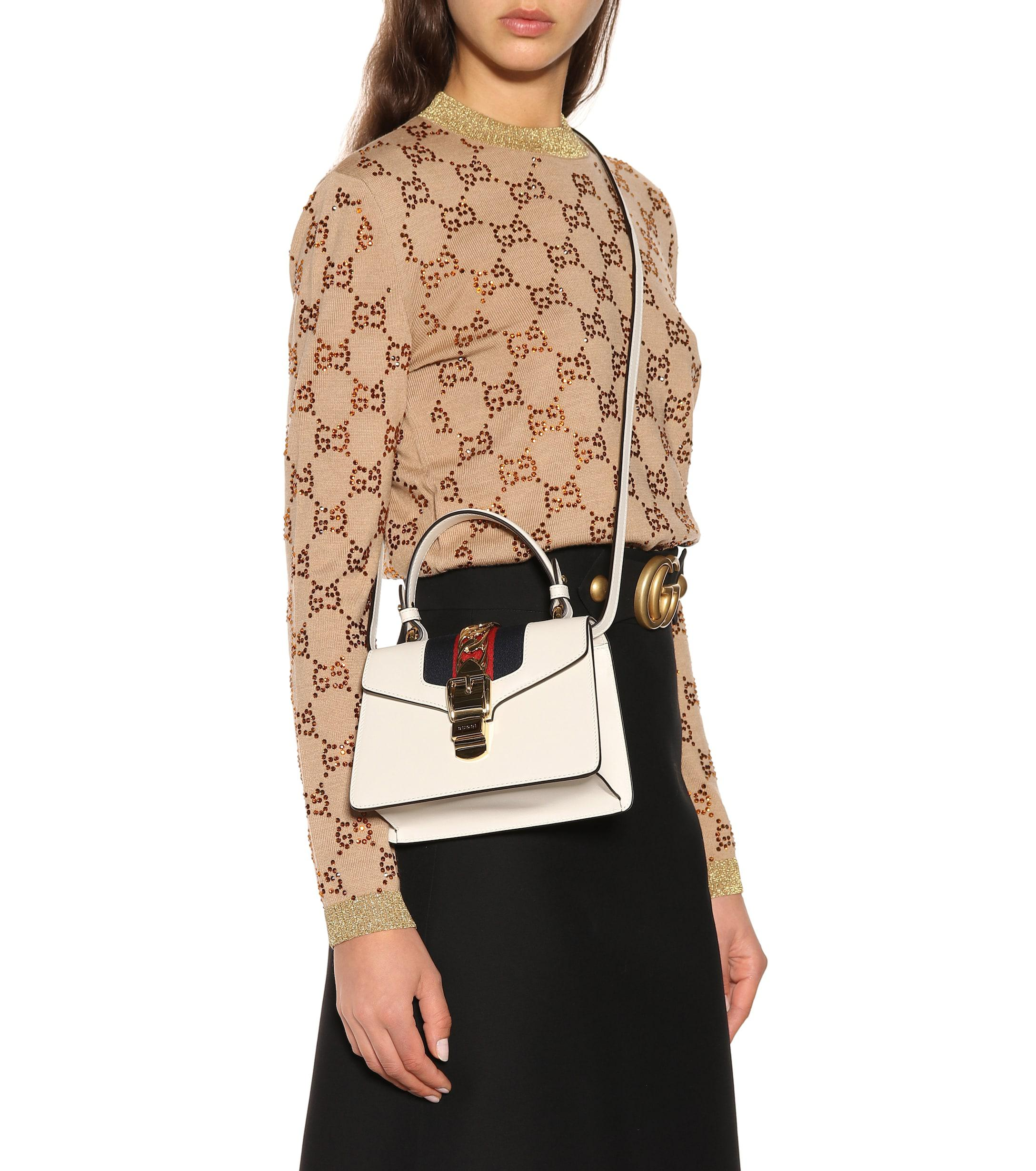 Gucci - Multicolor Sylvie Mini Leather Crossbody Bag - Lyst. View fullscreen f83ff87694e48