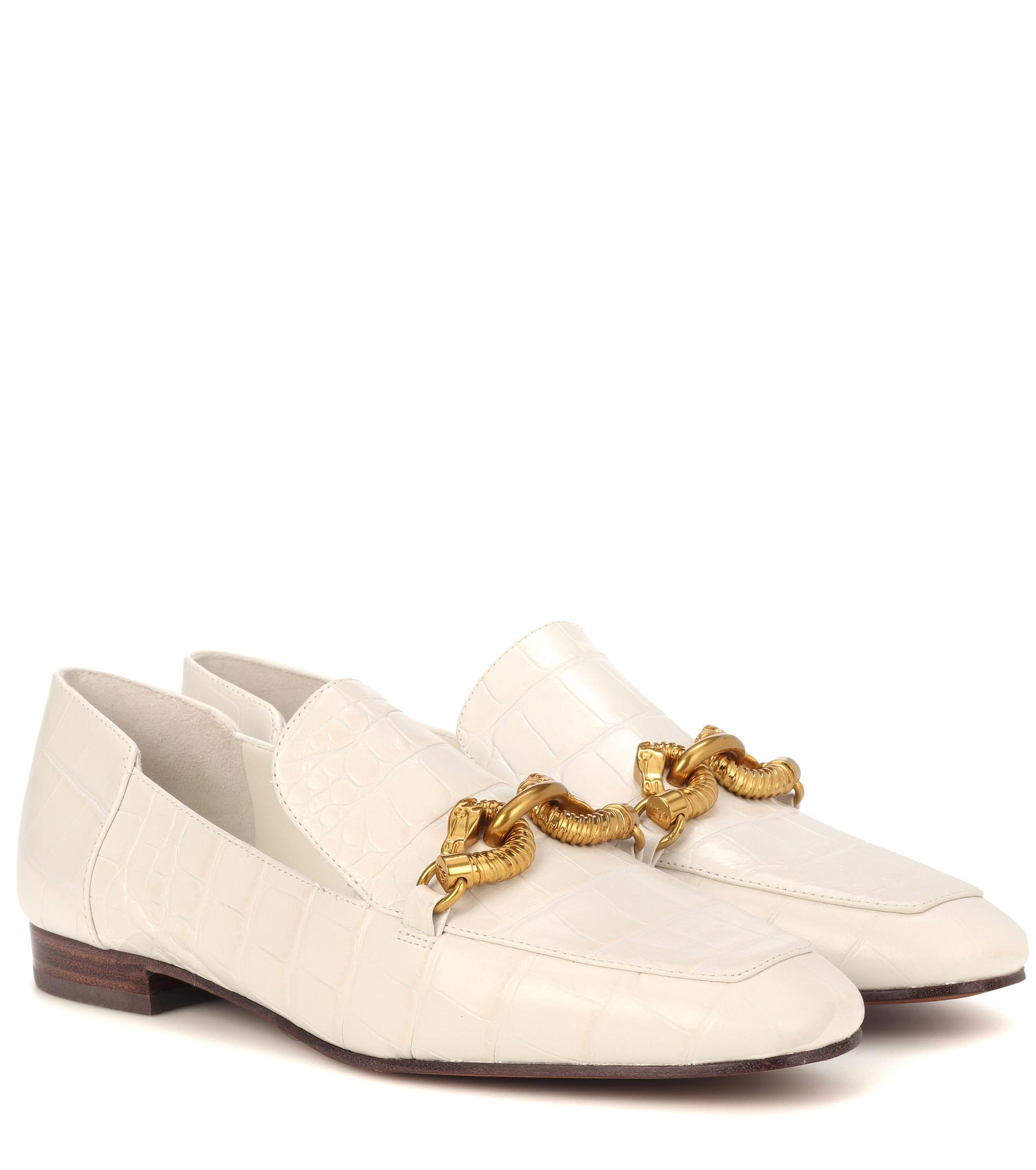 7fc2a1ca9e6 Lyst - Tory Burch Jessa Leather Loafers in White